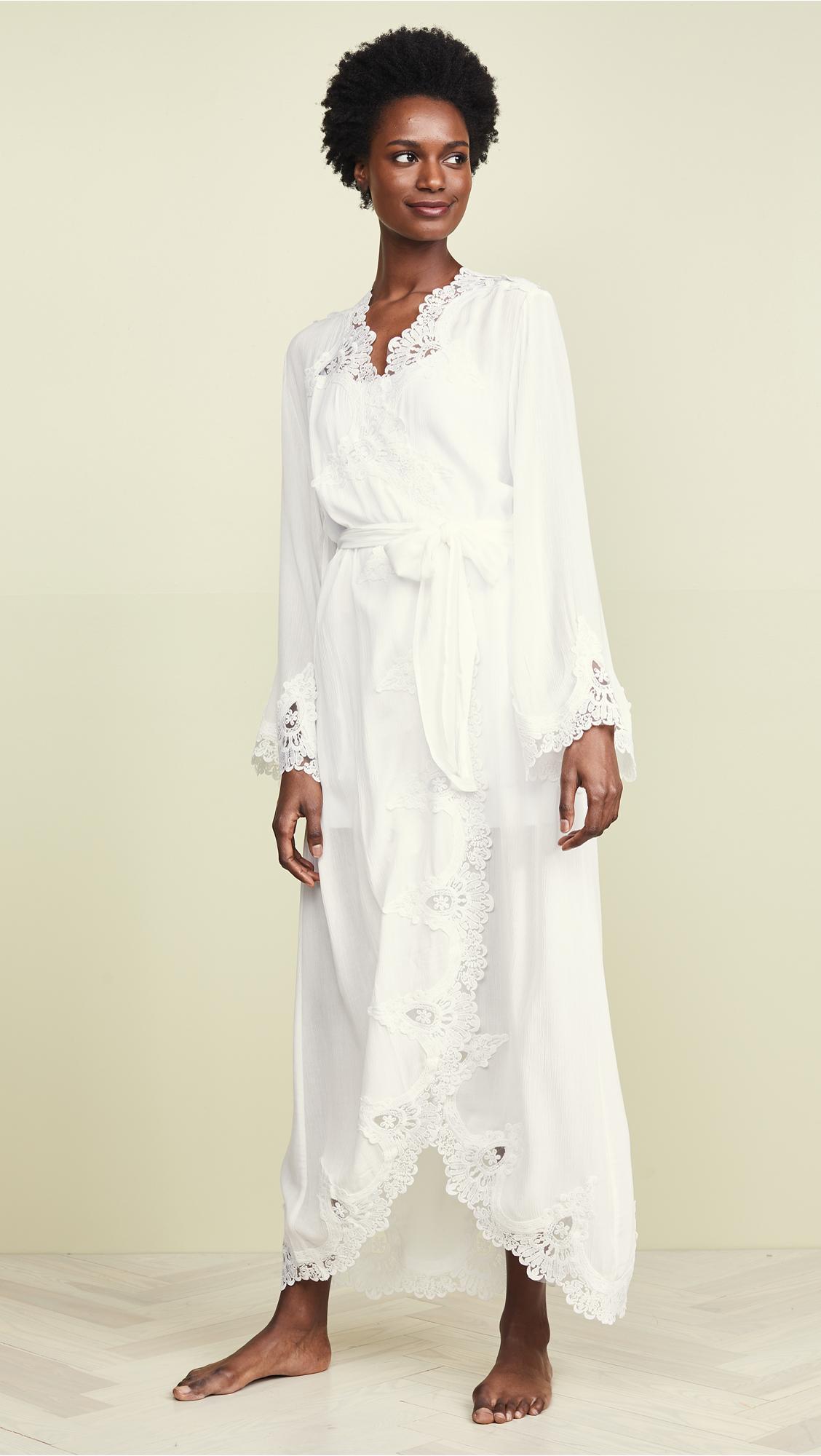 190b77ac23 Lyst - Flora Nikrooz Luela Crinkled Robe in White