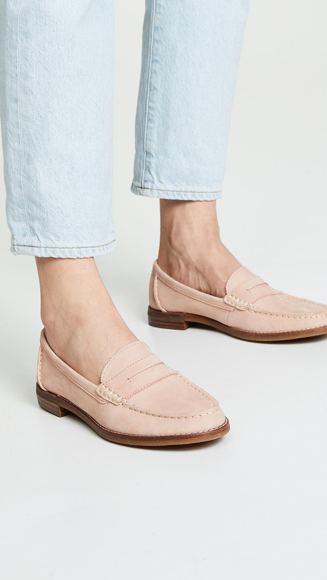 01405c94295c Sperry Top-Sider - Pink Seaport Penny Loafers - Lyst. View fullscreen