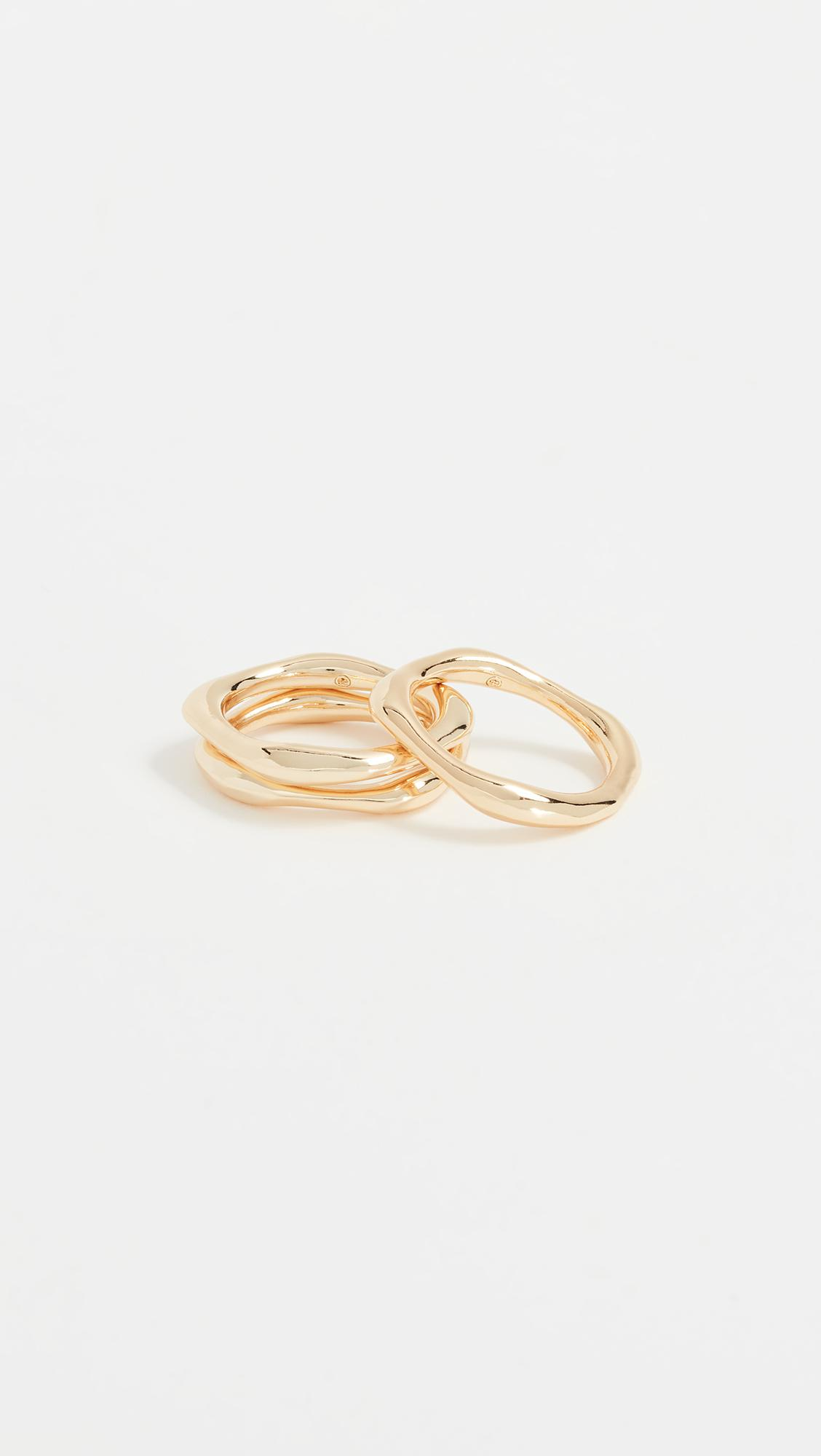 Rumi Burst Ring Set in Metallic Gold. - size 7 (also in 6) Gorjana