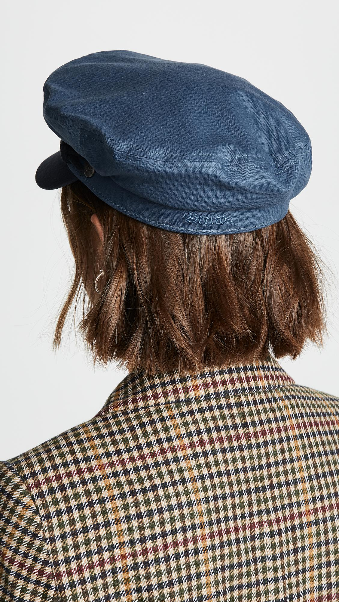 243110bfd20fa ... new style brixton fiddler newsboy hat in blue lyst b43e7 3f440  inexpensive ...