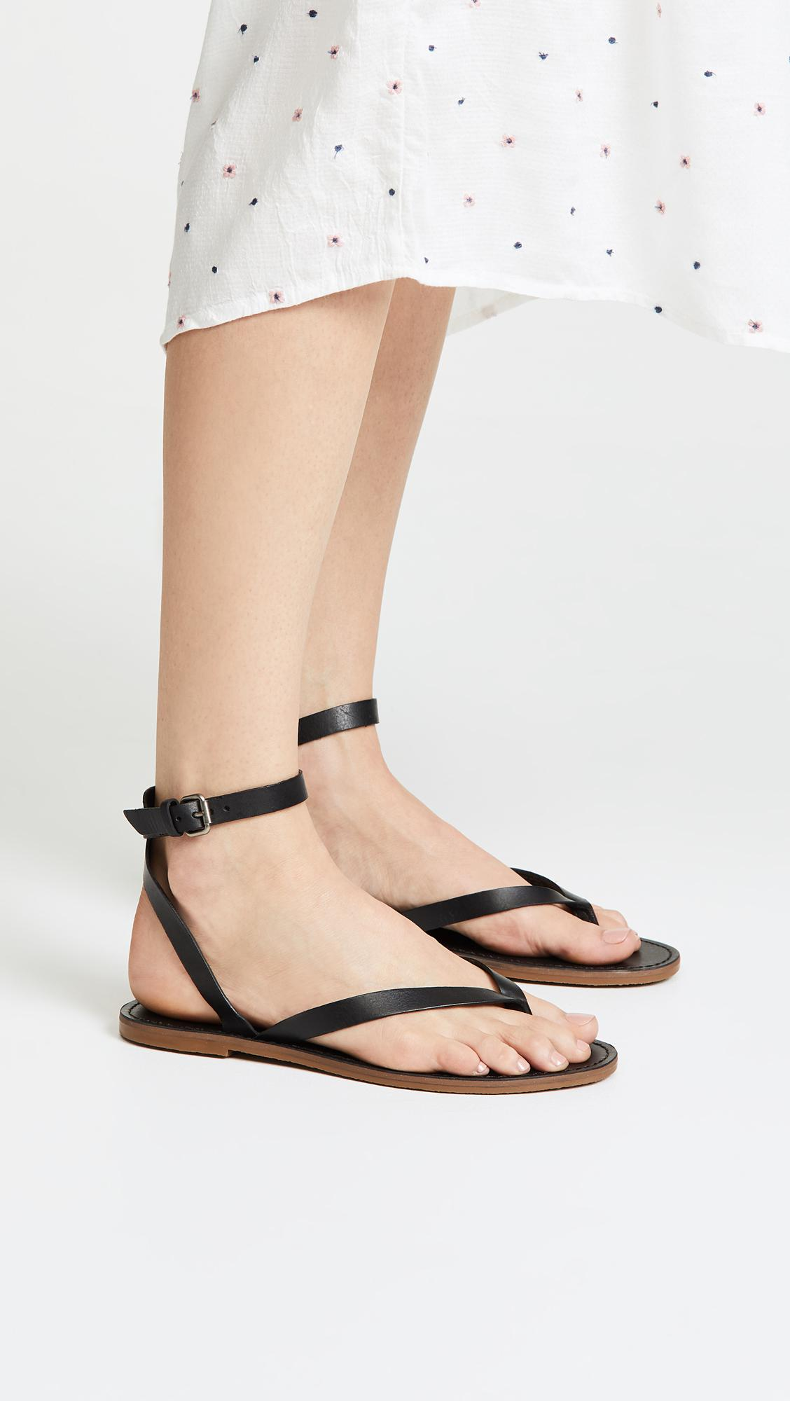 2edcba13dfb Lyst - Madewell The Boardwalk Thong Sandals in Black