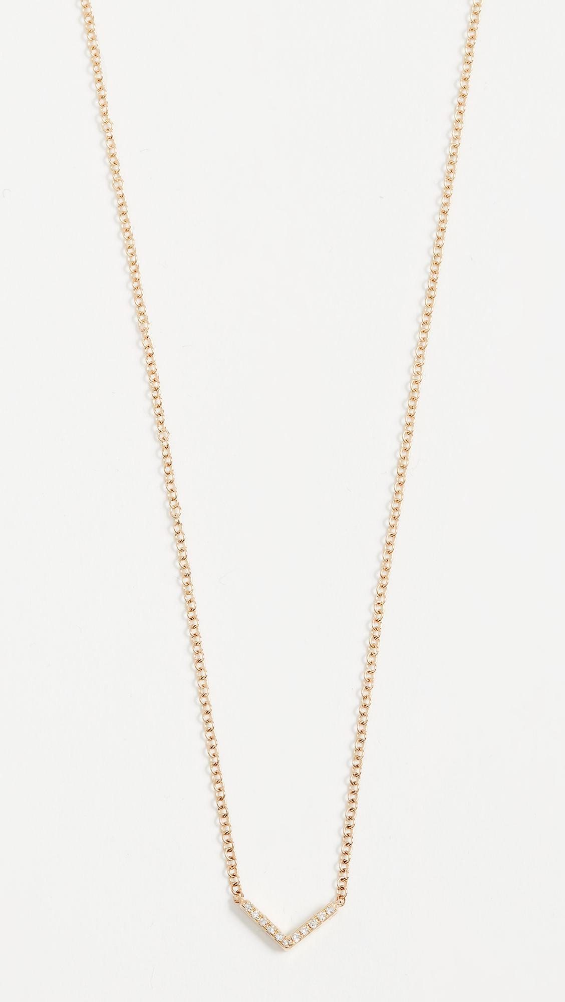 EF Collection 14k Mini Star Diamond Necklace hPvy1PinM1