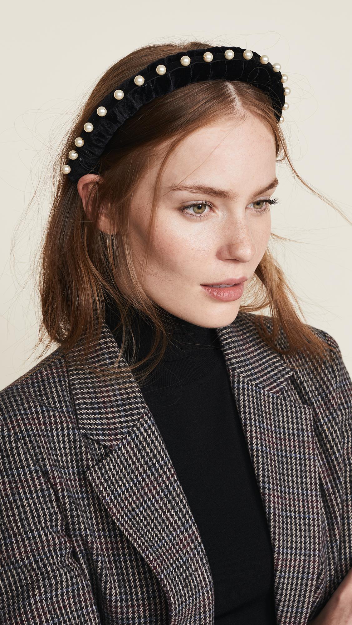 Jennifer Behr - Black Mathilda Headband - Lyst. View fullscreen 1e934afd671