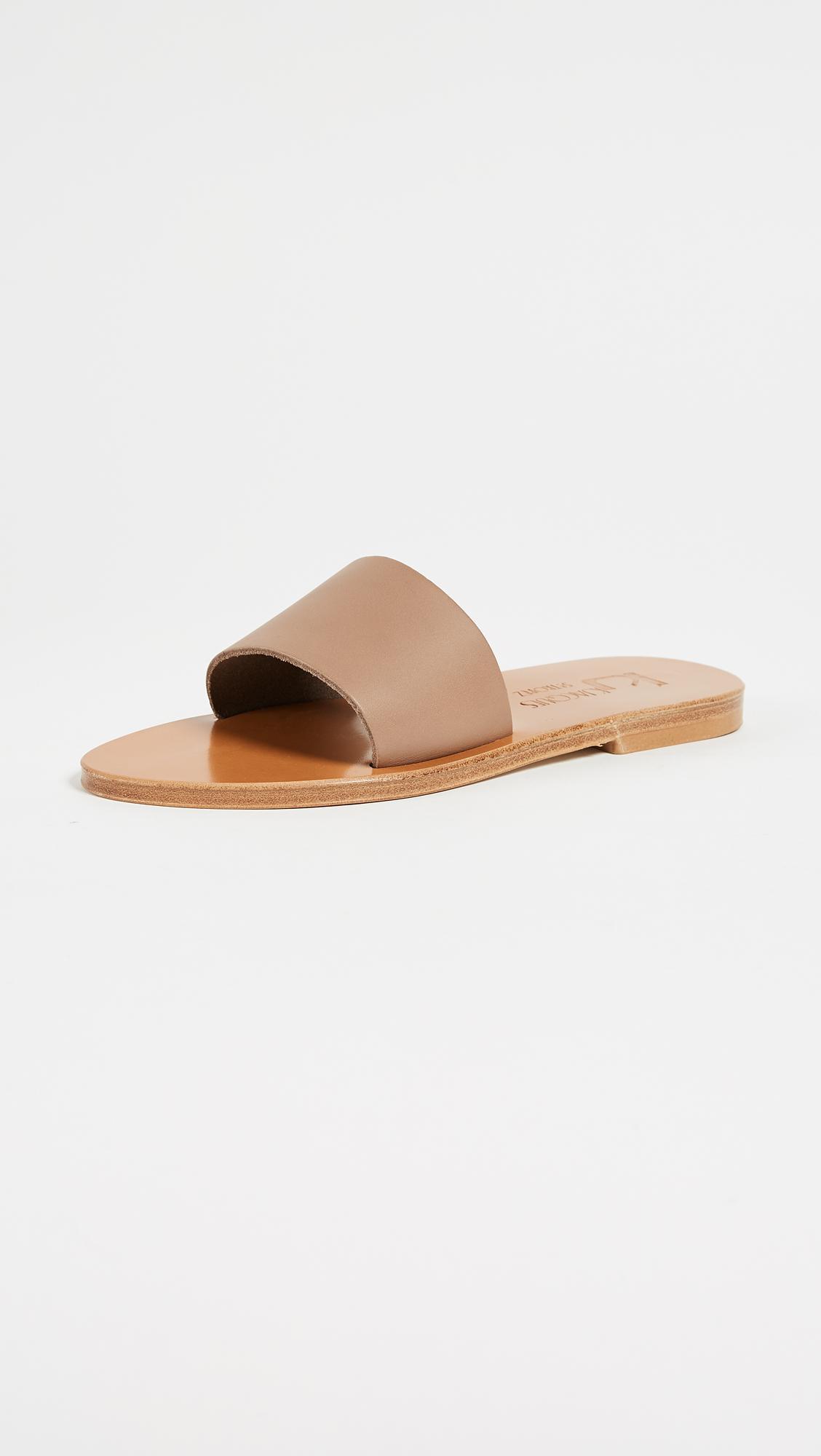 Arezzo Sandals in Metallics,Black K.Jacques