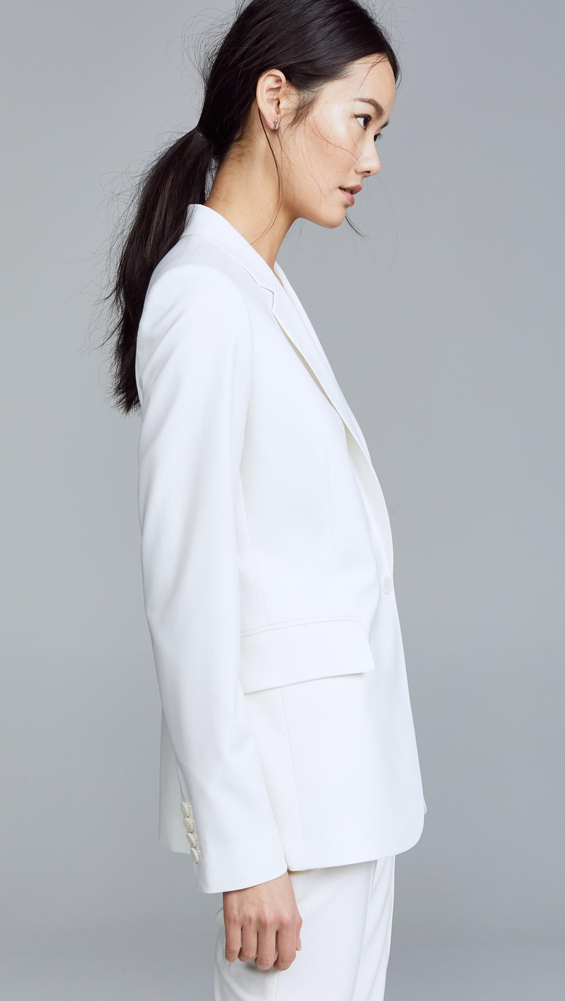 3c0618b2b4c Theory Essential Jacket in White - Lyst