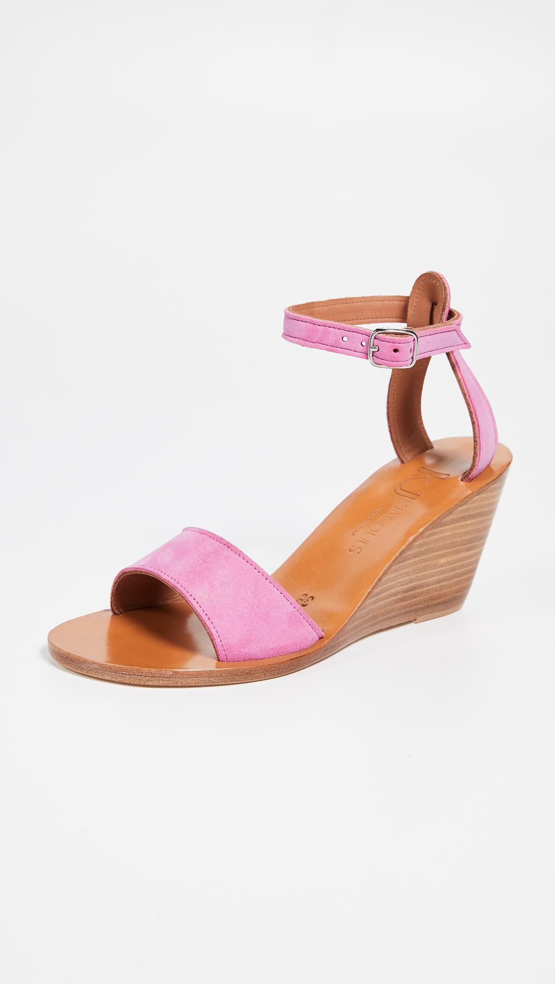 9d6b6142ffe2 Lyst - K. Jacques Sardaigne Wedge Sandals in Pink