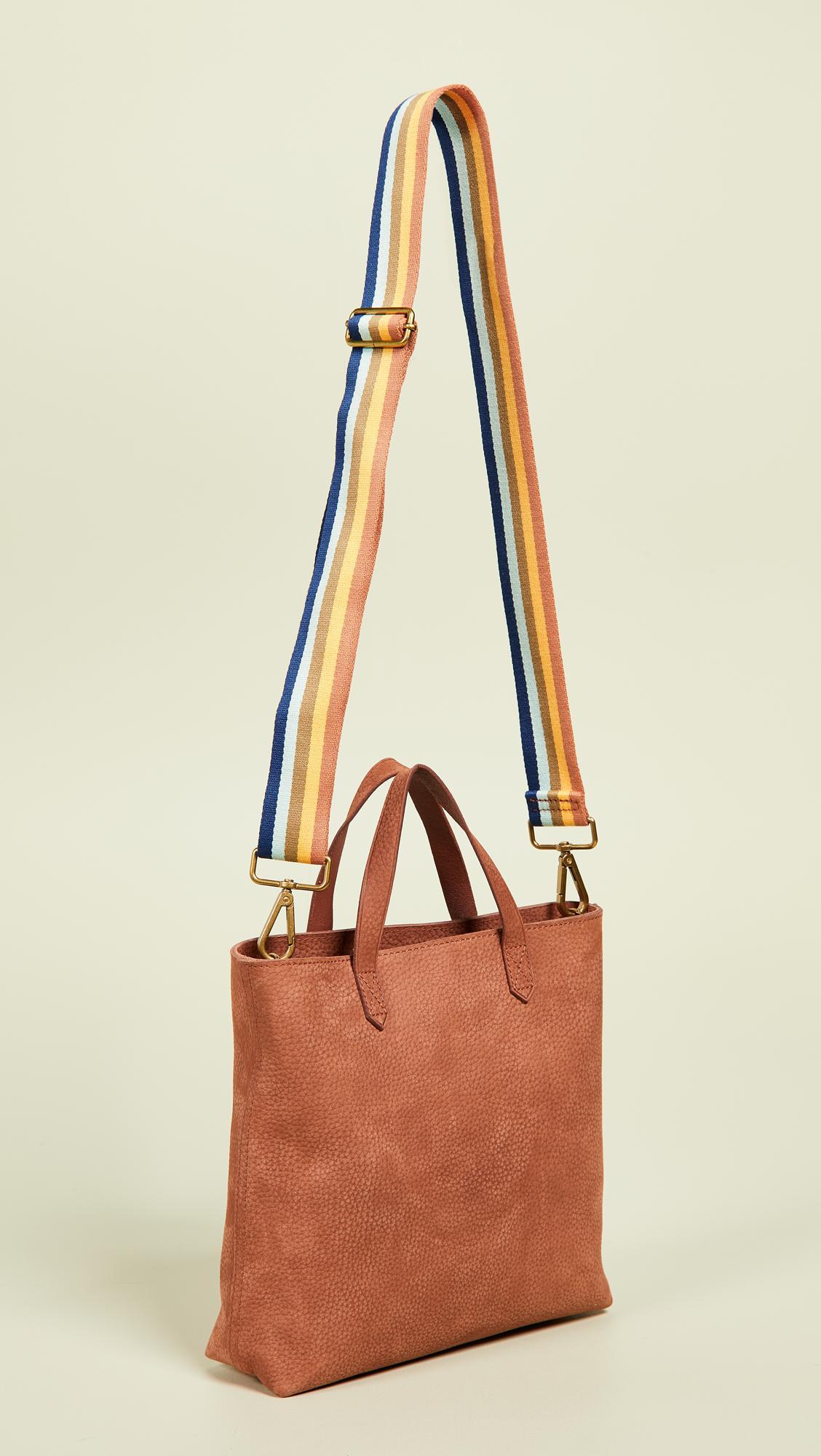 488708c70 Madewell The Zip-top Transport Crossbody In Nubuck Leather: Rainbow ...