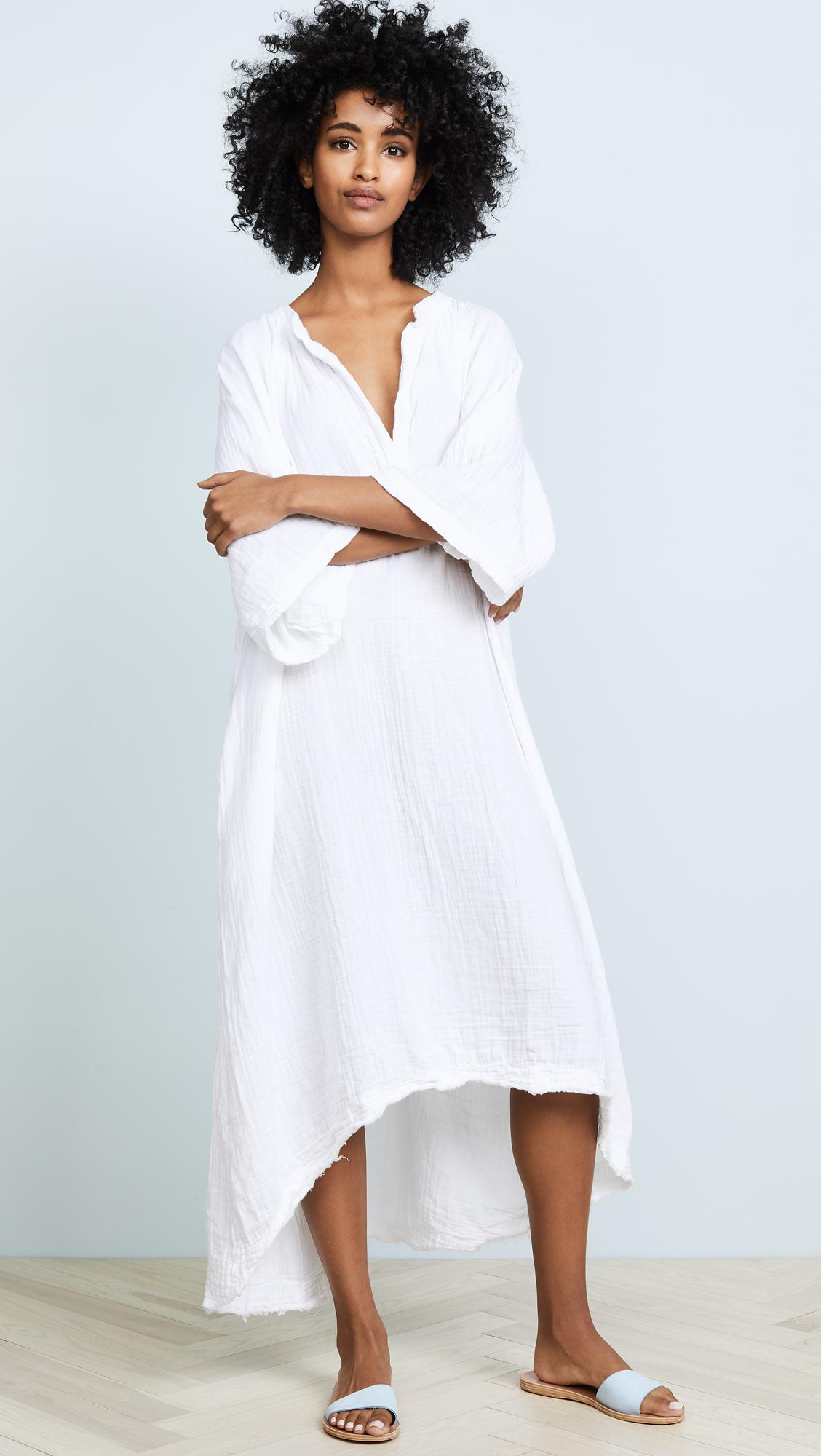 0d69e08e5013 9seed Tangier Caftan in White - Save 2% - Lyst