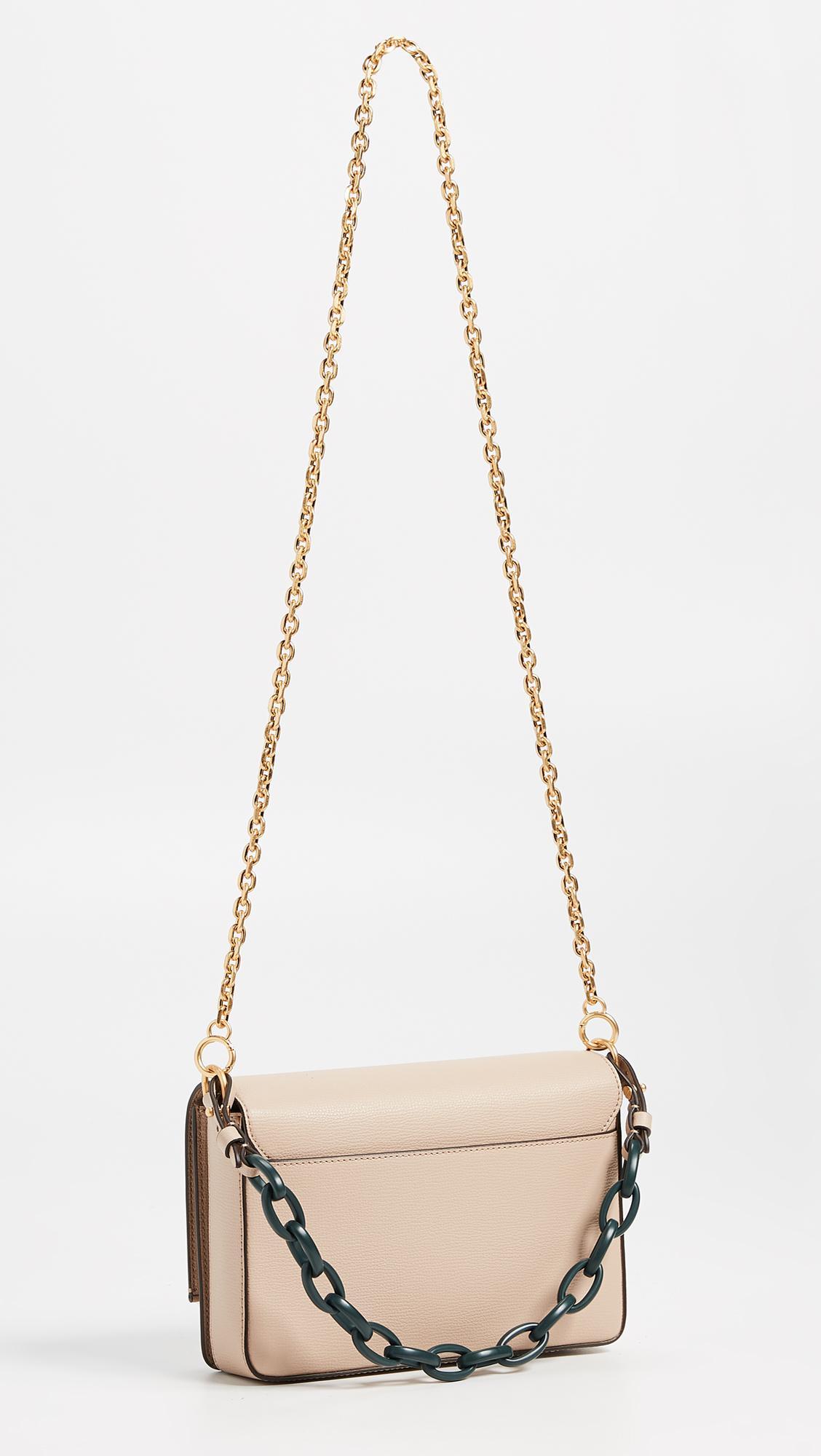 ddf6aaf8c7a8 Lyst - Tory Burch Kira Double Strap Shoulder Bag in Natural