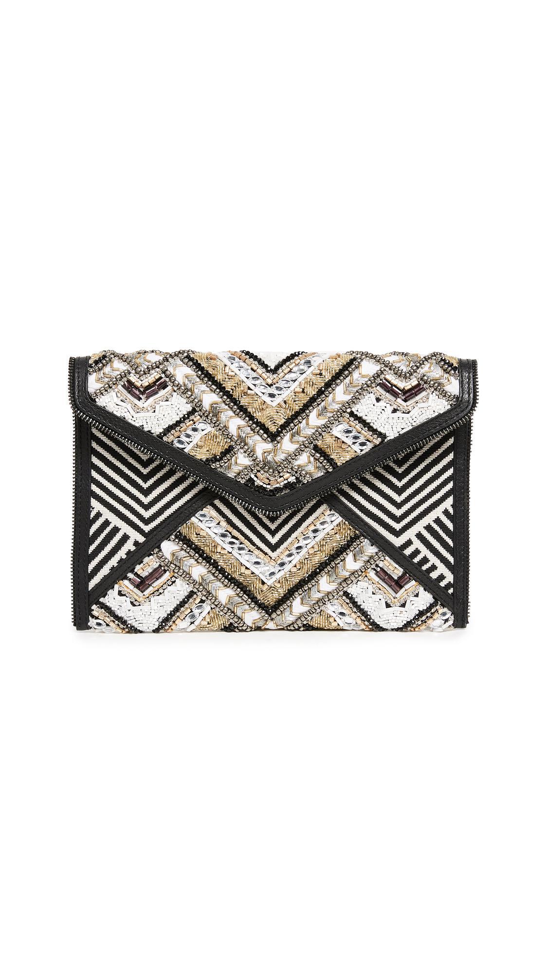 Rebecca Minkoff Leo Beaded Clutch Bag 5wfADajE4