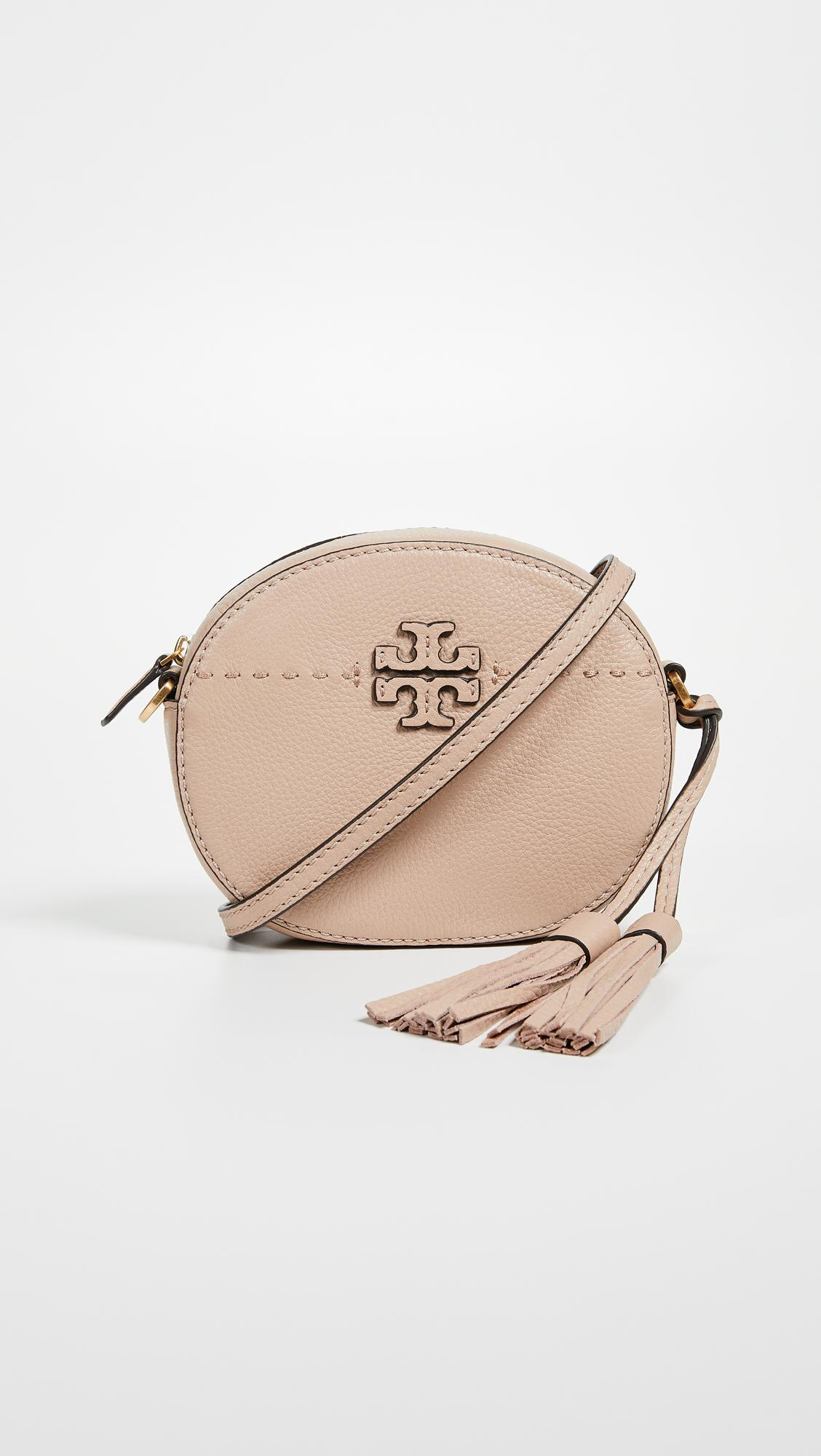 fdcbb8e9664e Lyst - Tory Burch Mcgraw Round Cross Body Bag in Natural