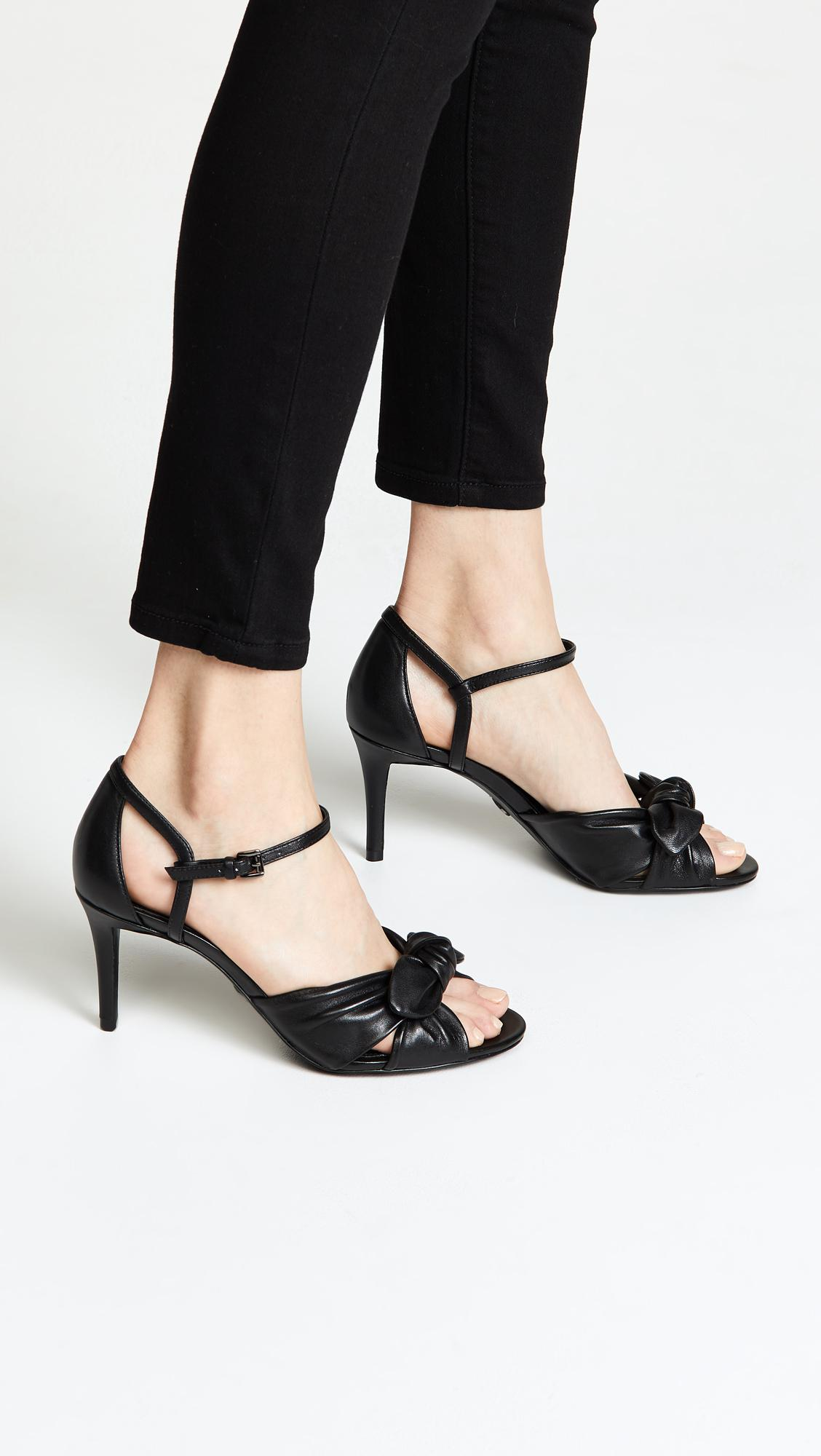 5a54aed8beb Lyst - MICHAEL Michael Kors Pippa Strappy Sandals in Black