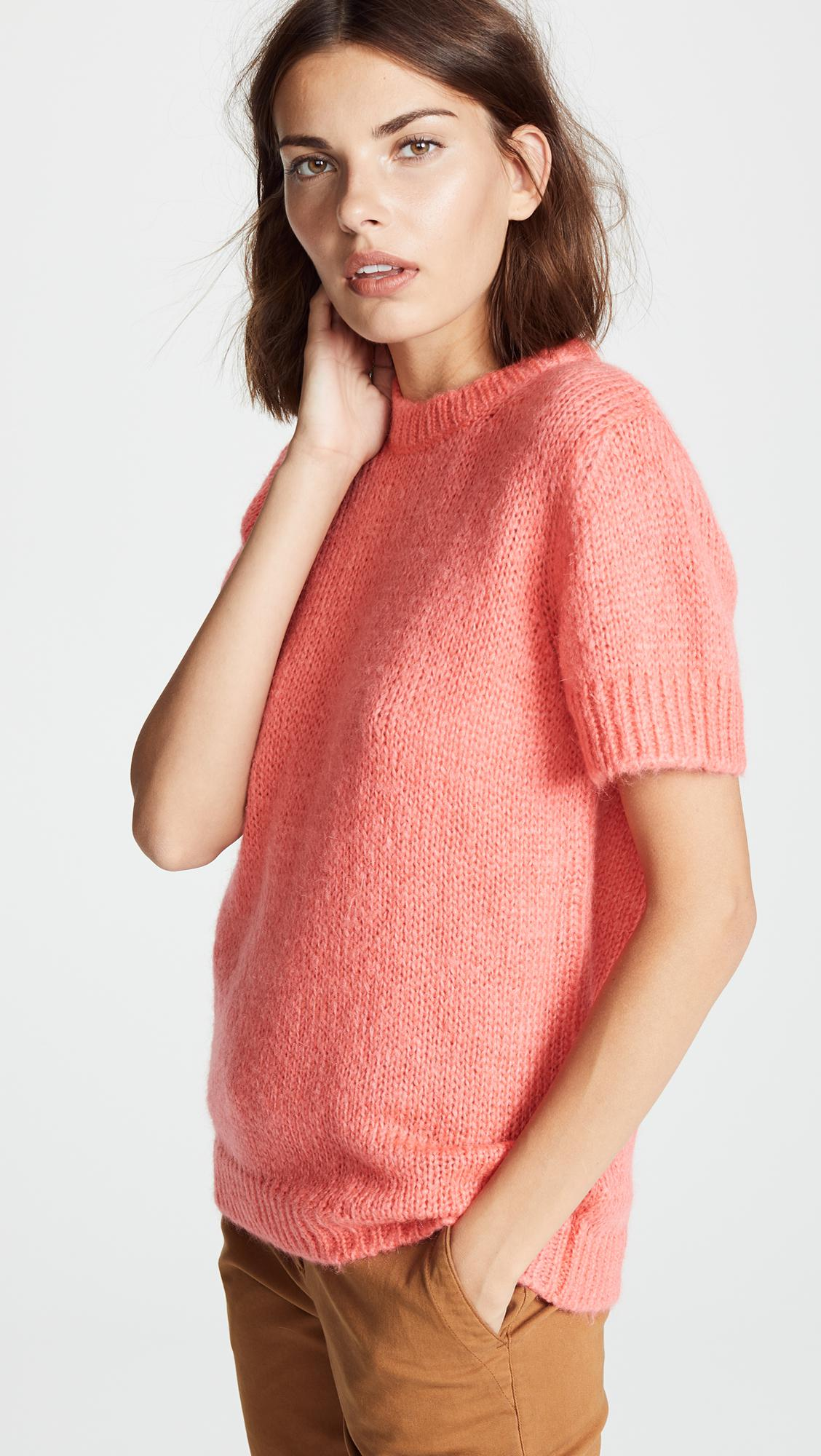 3ef877c2ba98 Lyst - A.P.C. Dorothee Pullover in Pink