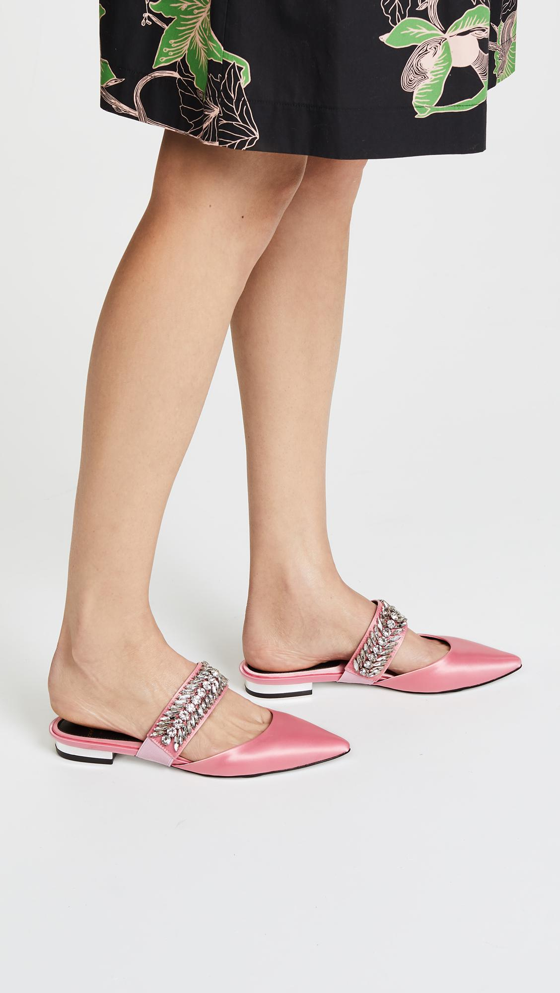 Suecomma Bonnie embellished pointed mules 2015 cheap price footaction cheap online latest collections for sale free shipping best wholesale 1S2tDzY77
