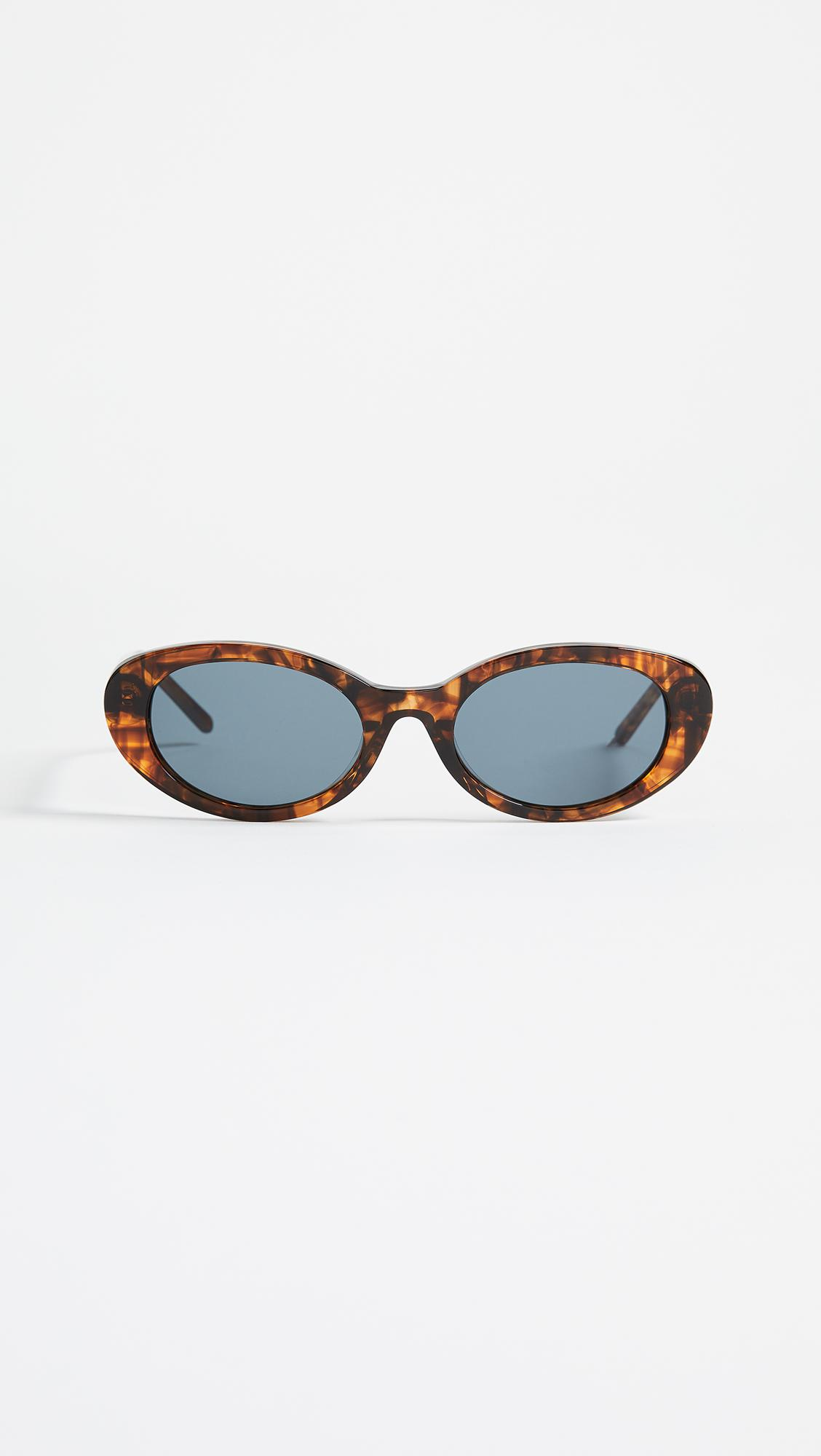 Frances Oval-frame Acetate Sunglasses - Black Roberi & Fraud Best Seller Cheap Price Cheap Affordable Great Deals Online 3K5ZvyYY1W