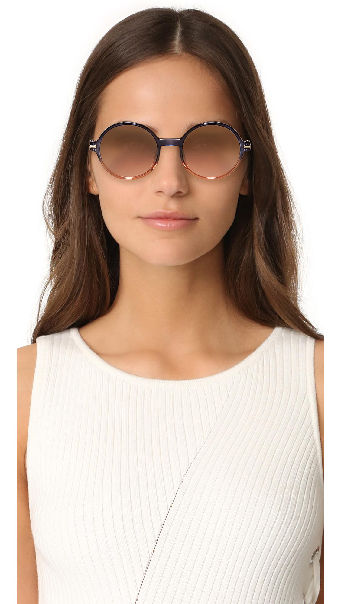 743d028b67a7 Lyst - Marc Jacobs Perfectly Round Sunglasses