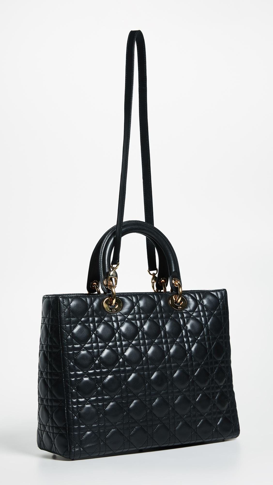 e0c85bf73518 What Goes Around Comes Around - Black Dior Lady Dior Bag - Lyst. View  fullscreen