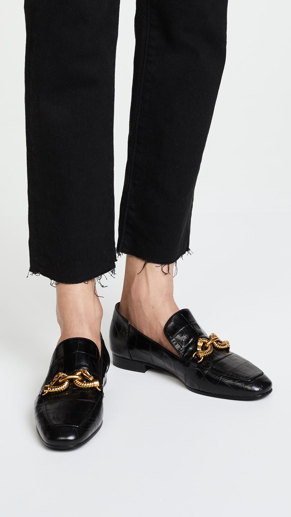 5a206ff03 Lyst - Tory Burch Jessa Horse Hardware Loafers in Black