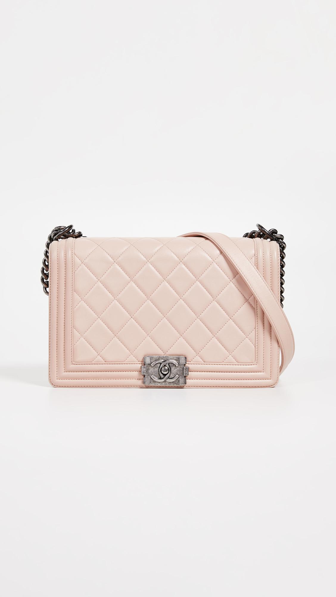 f1b1365f3f8a What Goes Around Comes Around. Women's Chanel Pink Lambskin Medium Boy Bag