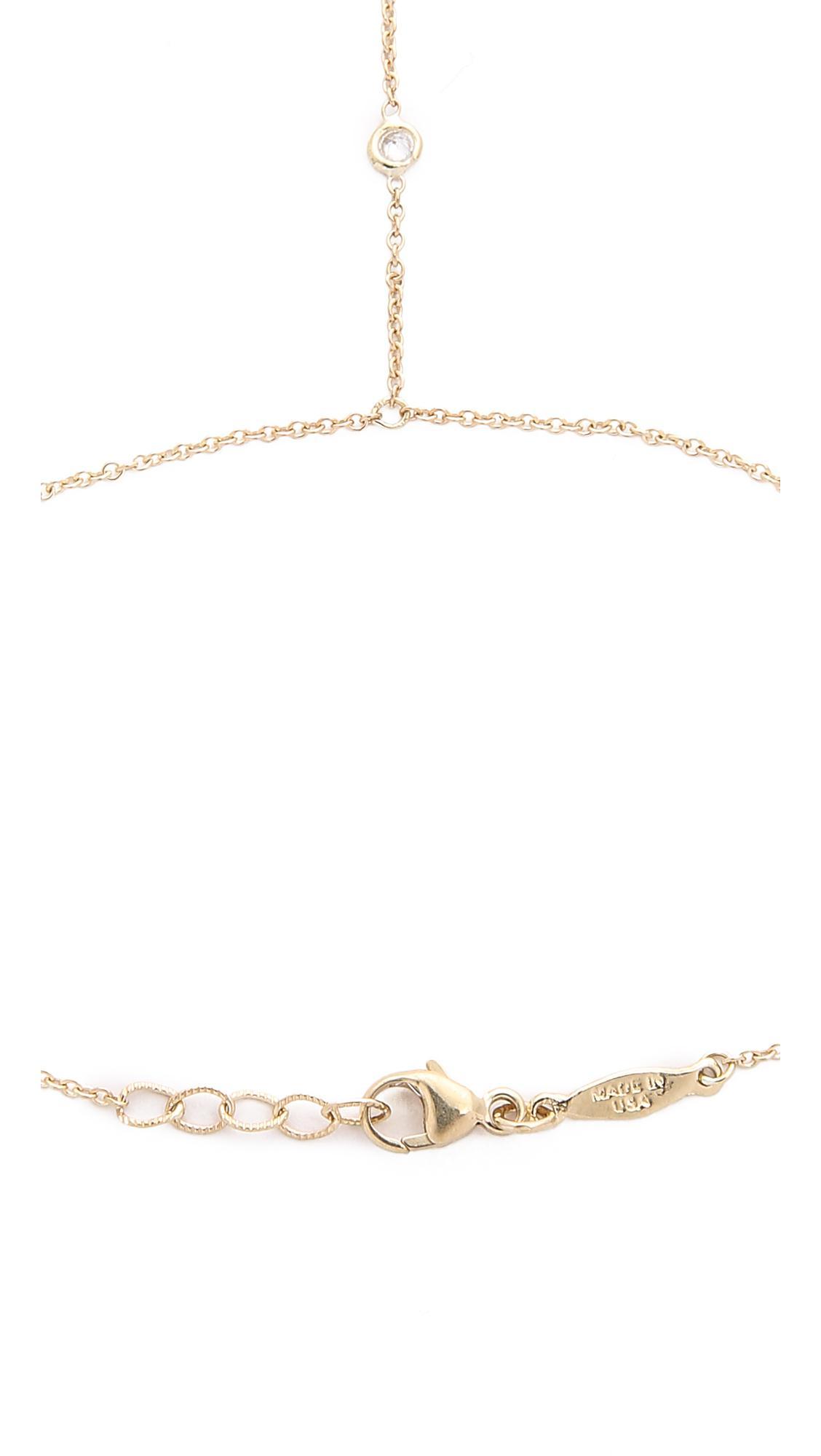 Jacquie Aiche 3 Spaced Out 14kt gold and diamond finger bracelet mpuCXde