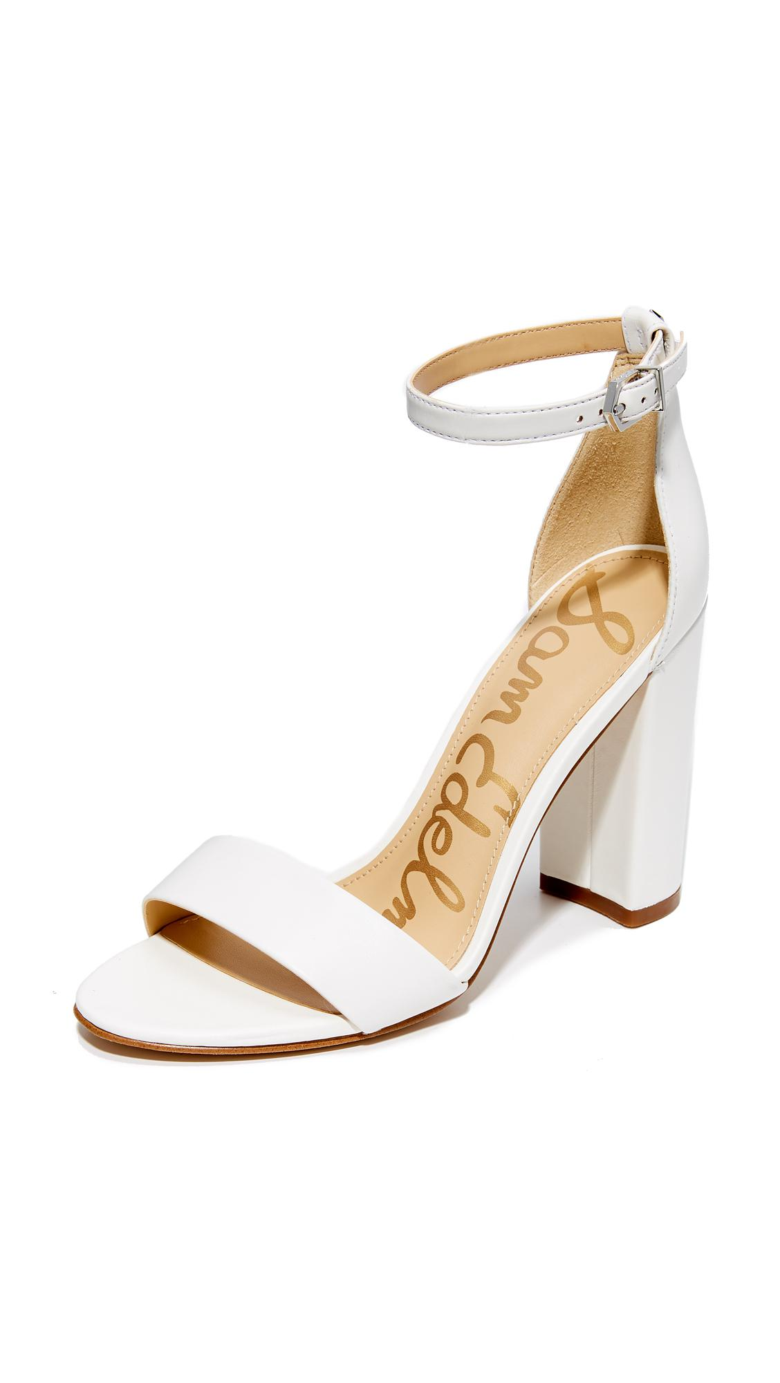 f6da09f156336 Sam Edelman Yaro Sandals in White - Lyst