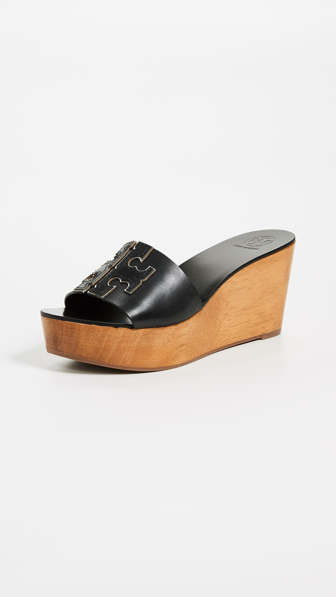 41145c10d85cb Tory Burch. Women s Black Ines 80mm Wedge Slides. £190 From Shopbop