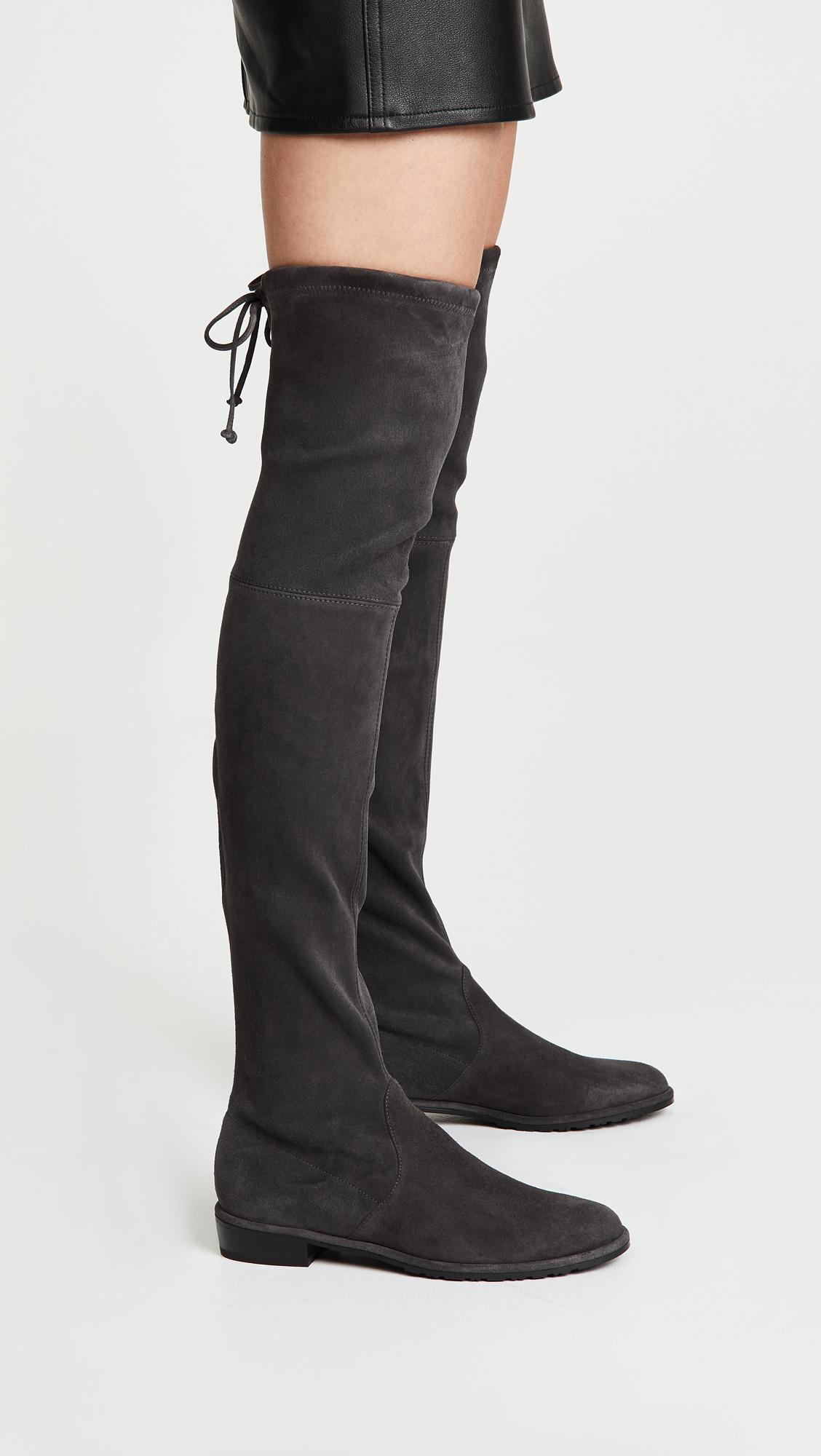 7b180df639a Stuart Weitzman - Black Lowland Over The Knee Boots - Lyst. View fullscreen