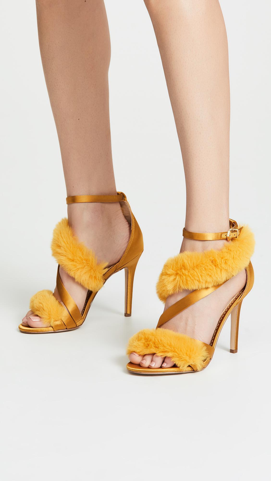 f1bceea65ed5 Lyst - Sam Edelman Adelle Sandals in Yellow