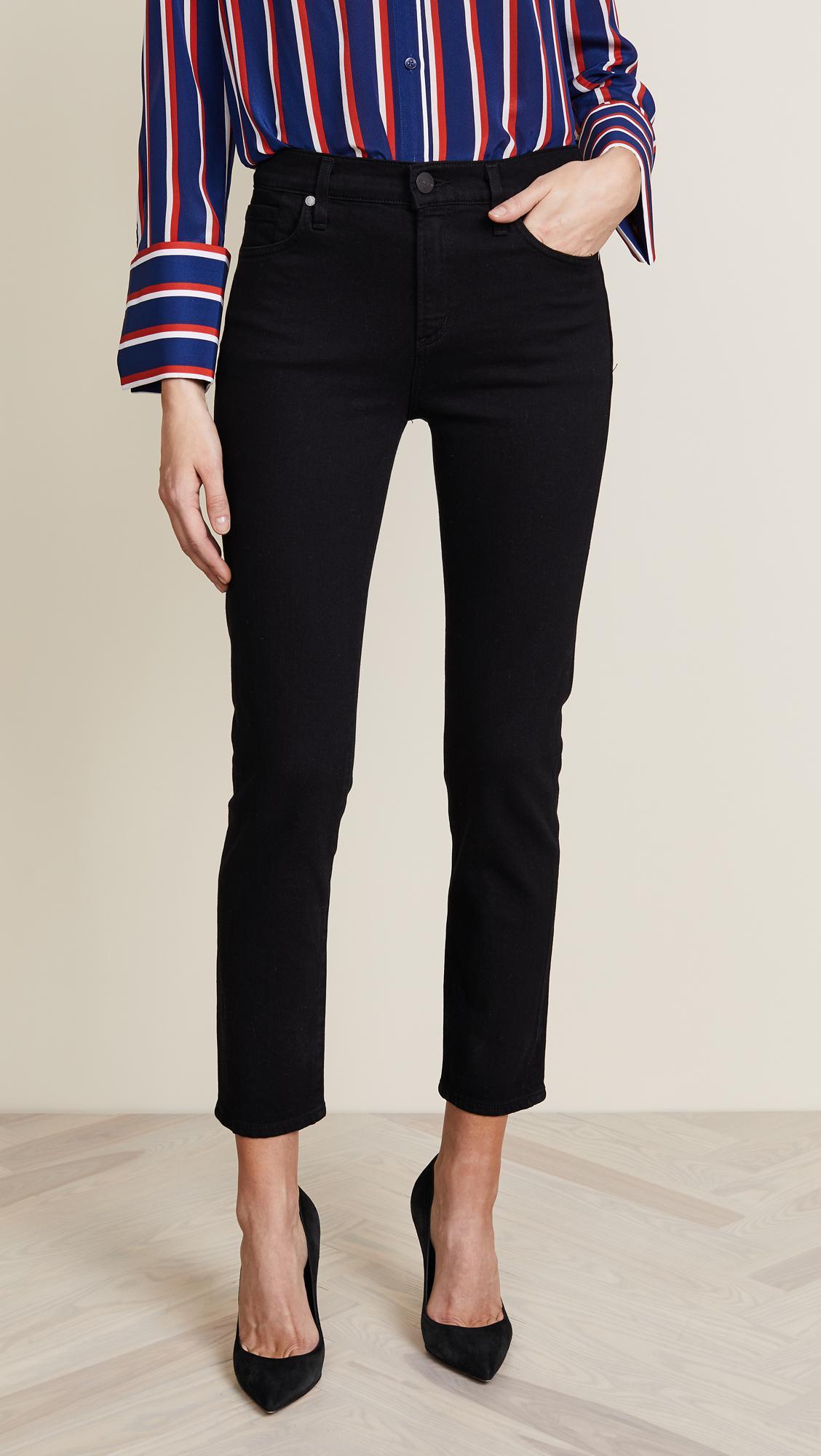 lyst goldsign the semi fit slim straight jeans. Black Bedroom Furniture Sets. Home Design Ideas