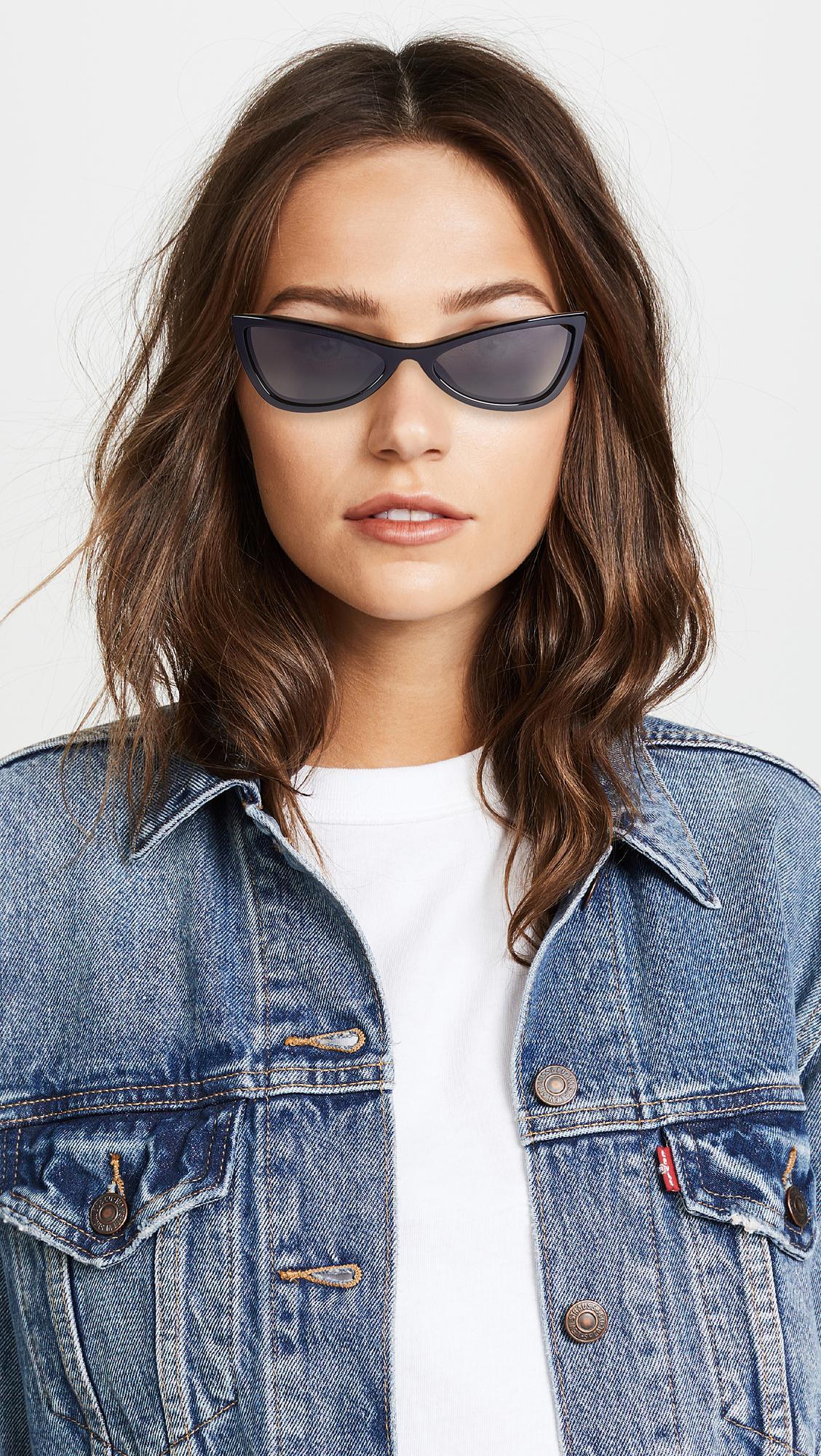 fa8fefc43f1 Balenciaga - Black Extreme Cat Eye Sunglasses - Lyst. View fullscreen