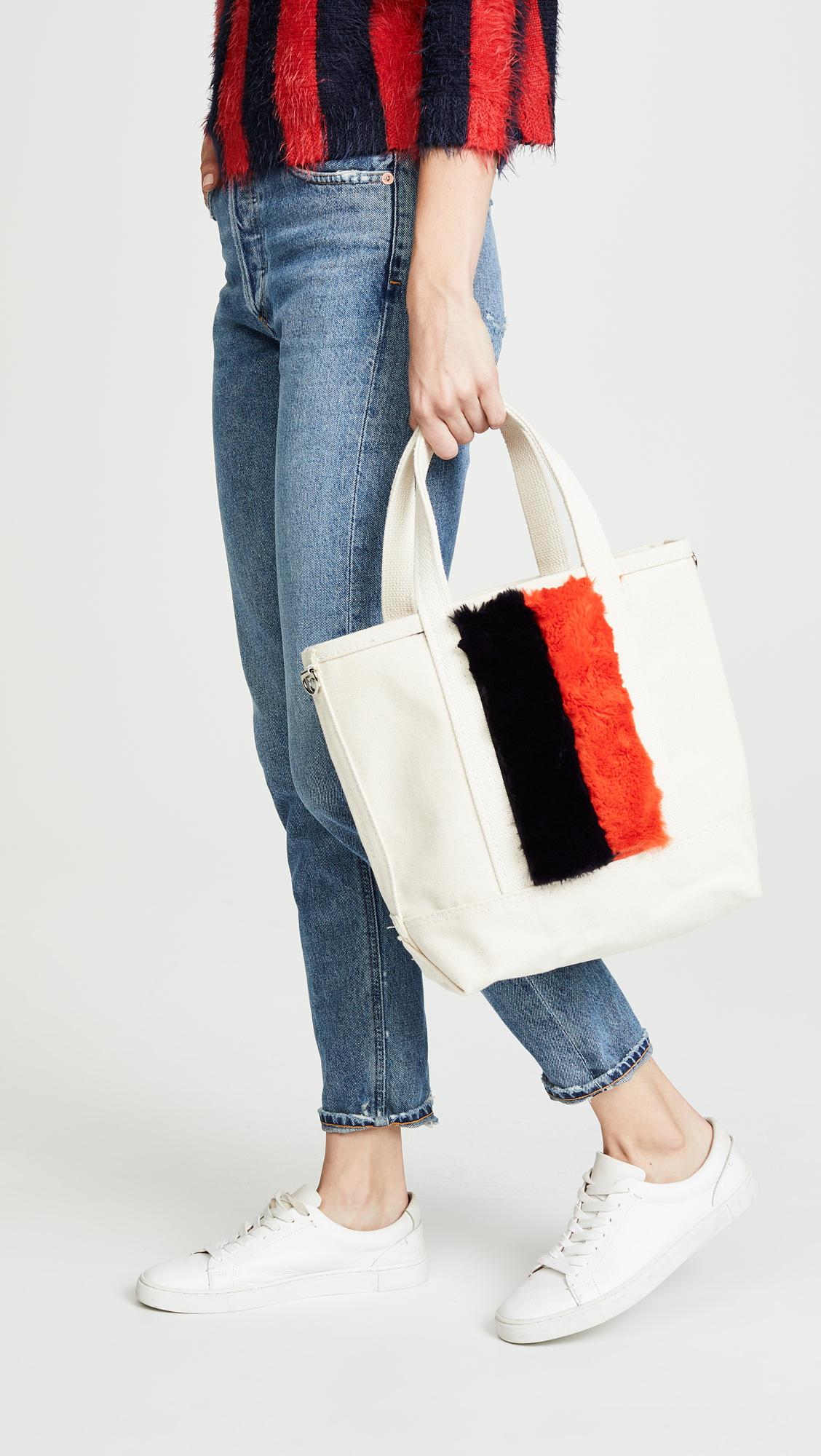 d5c1f74955 Lyst - Kule The Faux Fur Bucket Bag