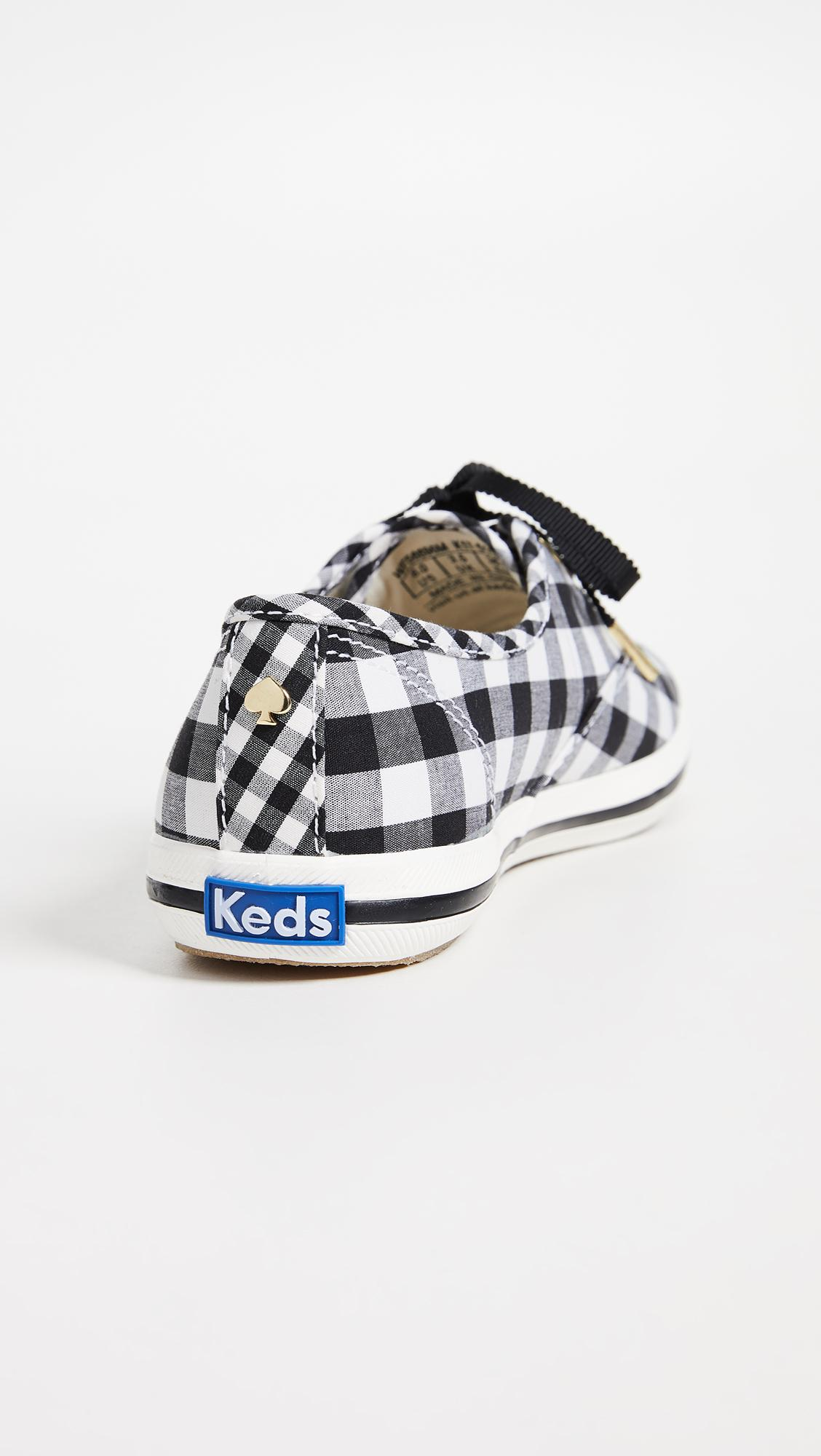 13a19260fea Lyst - Keds X Kate Spade New York Gingham Sneakers in Black