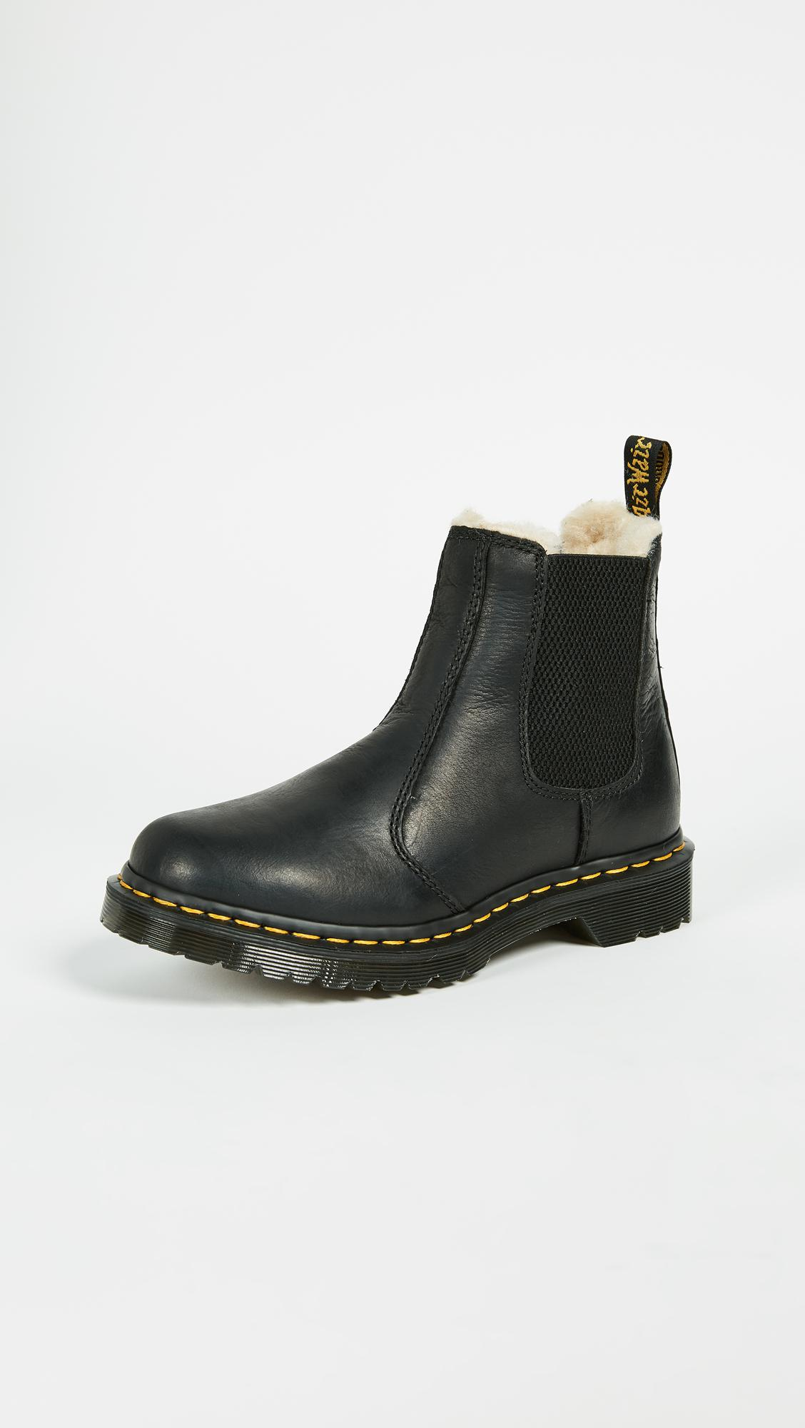 67f86c054e8 Lyst - Dr. Martens Leonore Sherpa Chelsea Boots in Black - Save 3%