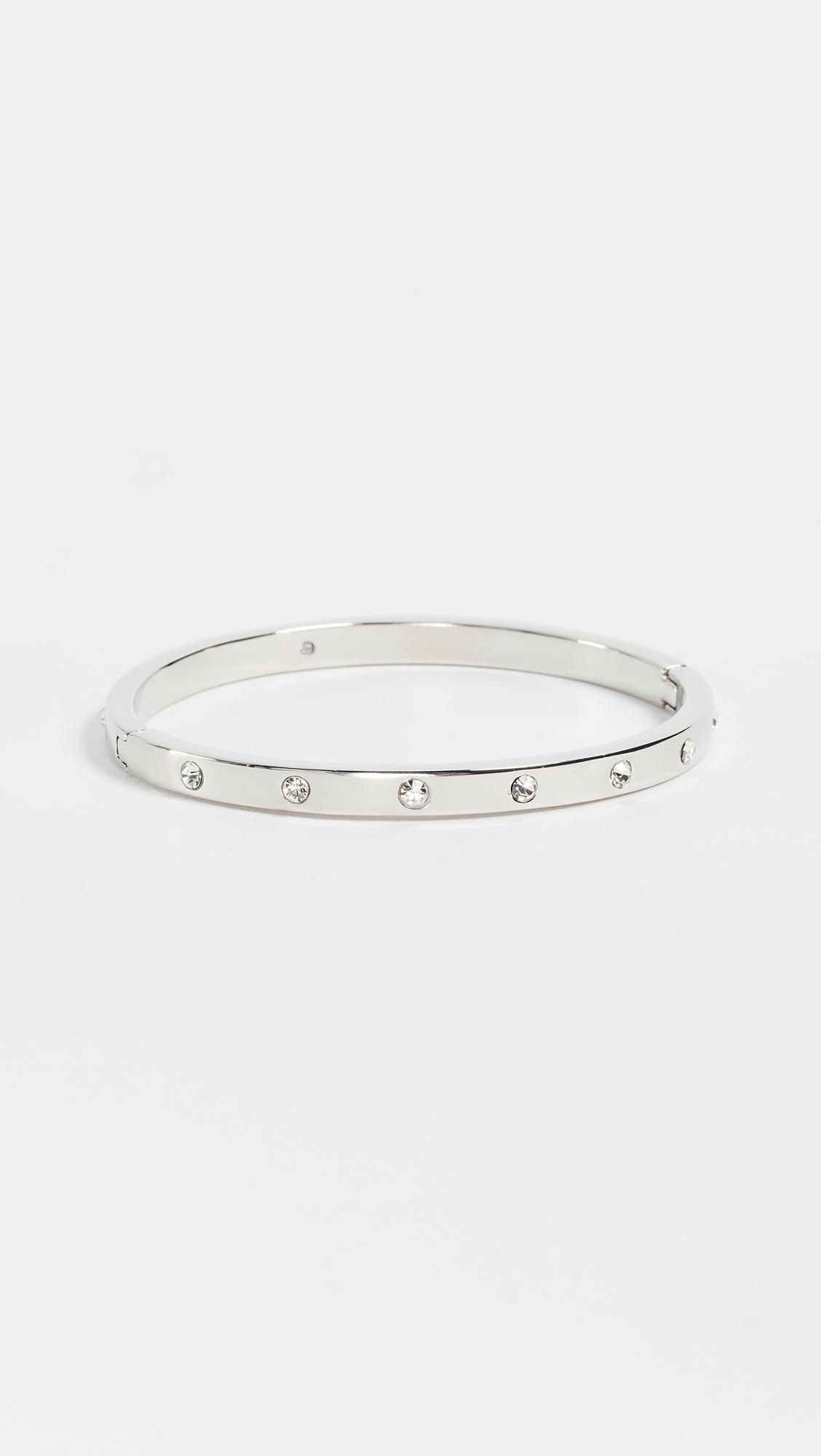Lyst Kate Spade Set In Stone Hinged Bangle In Metallic