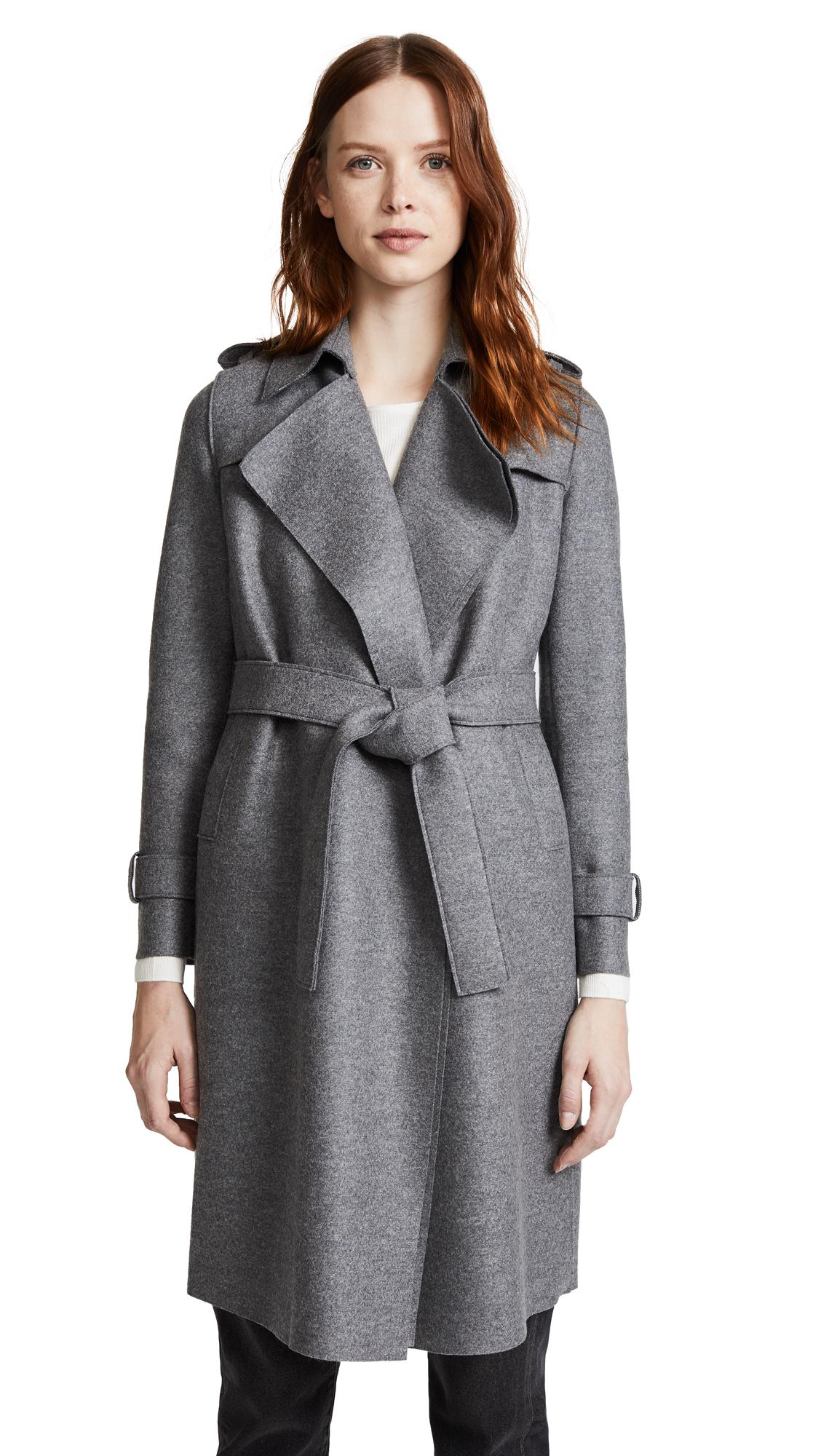 harris wharf london trench coat in gray lyst. Black Bedroom Furniture Sets. Home Design Ideas