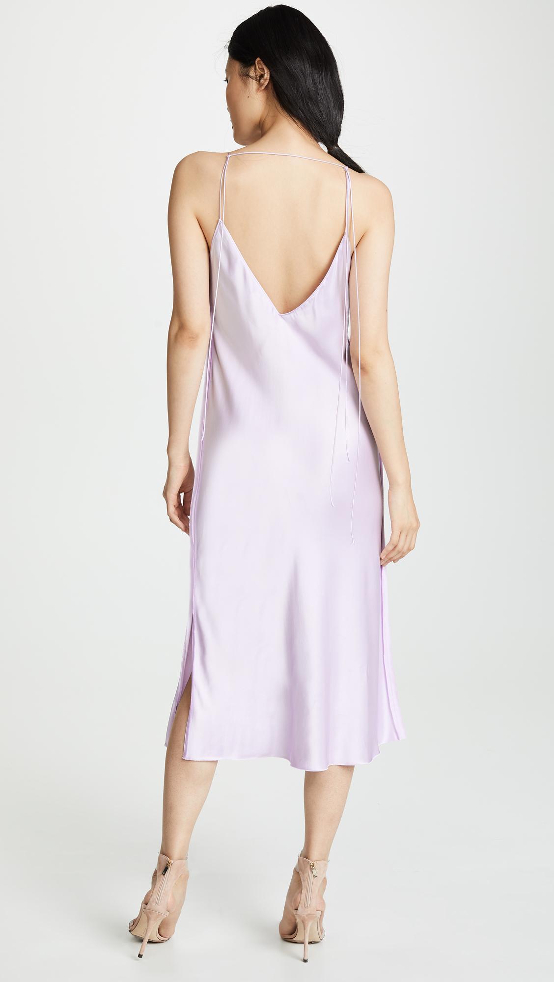 05452bd5fef6 Helmut Lang - Purple Raw Detail Slip Dress - Lyst. View fullscreen