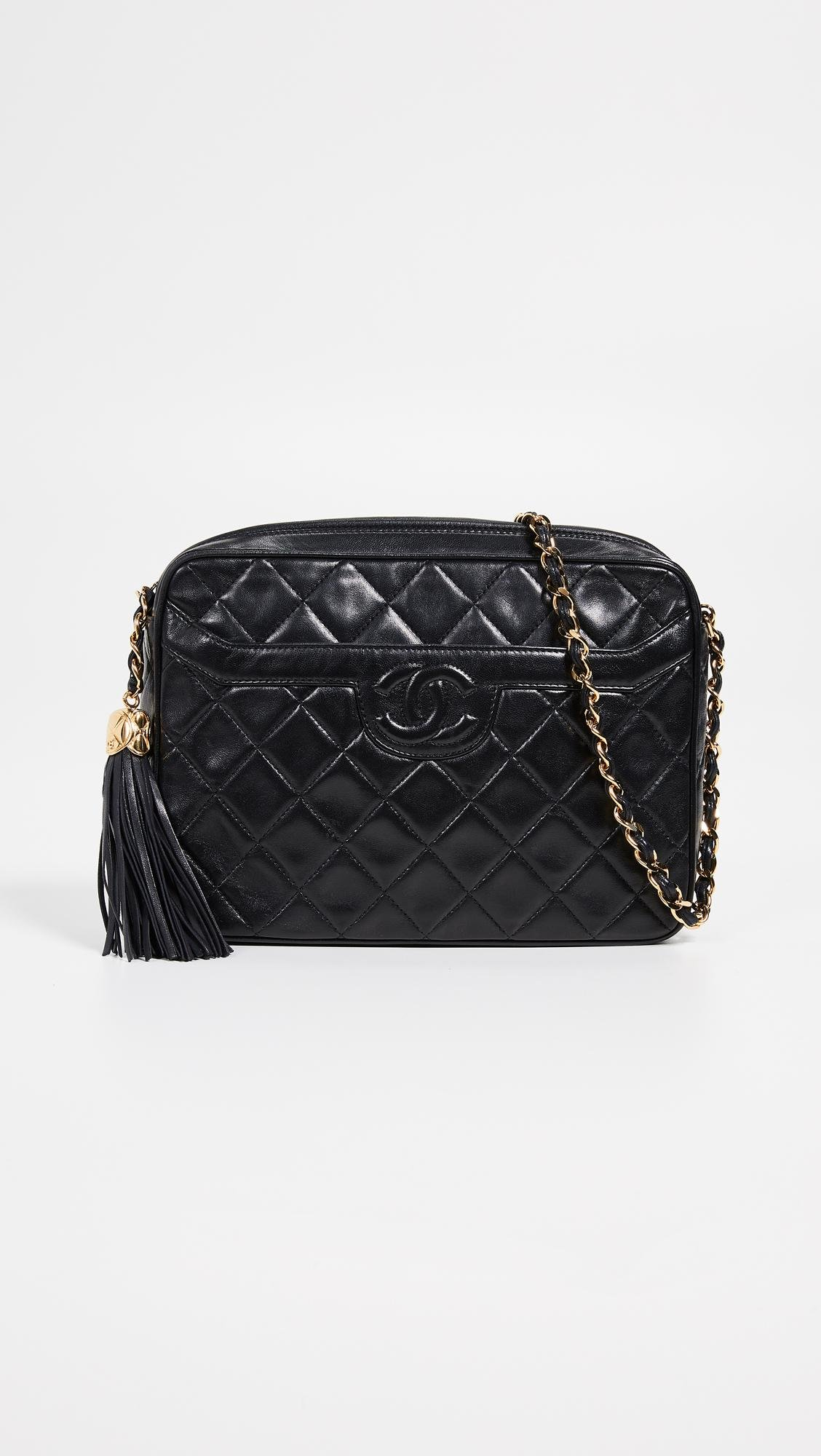 26b49293ddb What Goes Around Comes Around. Women s Black Chanel Medium Pocket Camera Bag