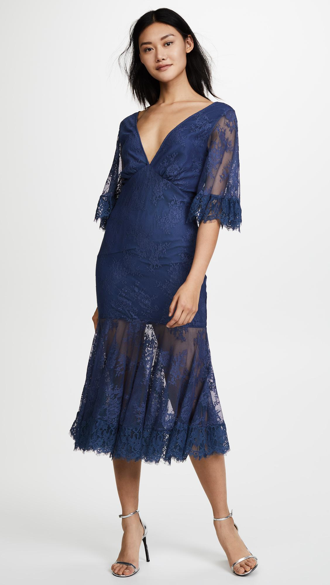 La Maison Talulah Transpire Lace Maxi Dress in Blue - Lyst 43df5d585