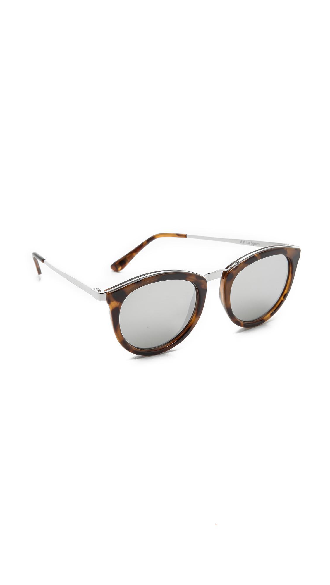 eed898c5aa Le Specs No Smirking Sunglasses in Metallic - Lyst