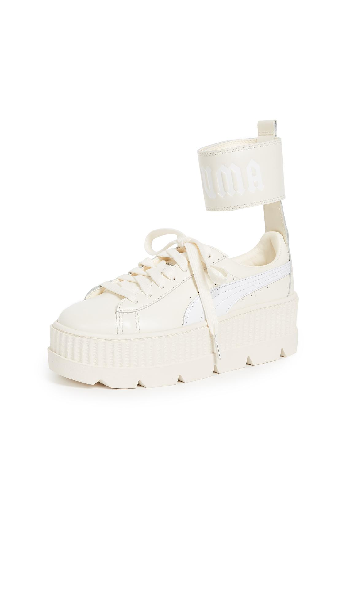 e31fd7584762 ... pretty cheap 4fbe9 7bf25 Lyst - Puma Fenty X Ankle Strap Sneakers in  White ...