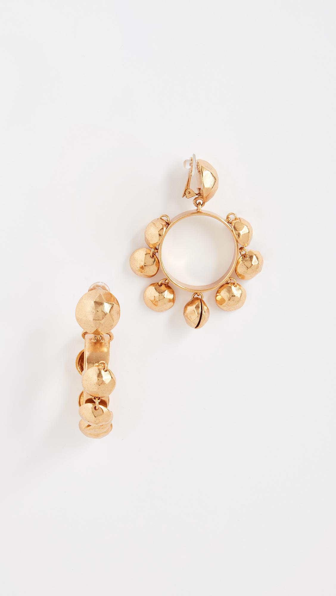 Oscar De La Renta hammered heart earring - Metallic veBep