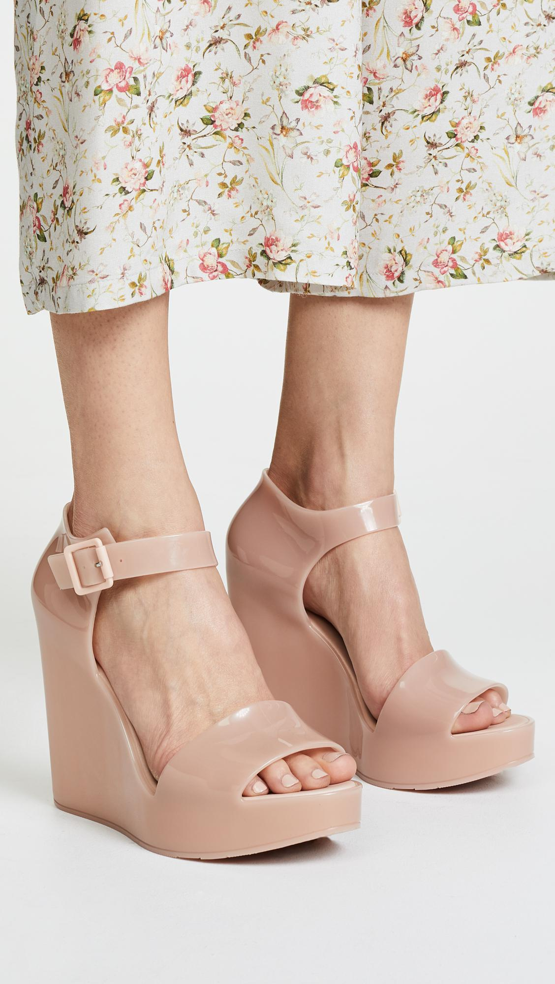 ee05a98b211c Lyst - Melissa Mar Wedge Sandals in Pink
