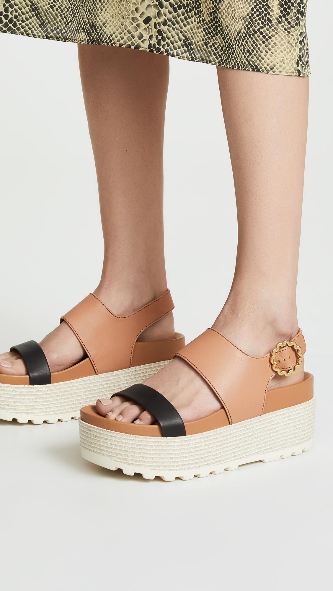 4187da5bdc4 See By Chloé - Multicolor Jenna Platform Sandals - Lyst. View fullscreen