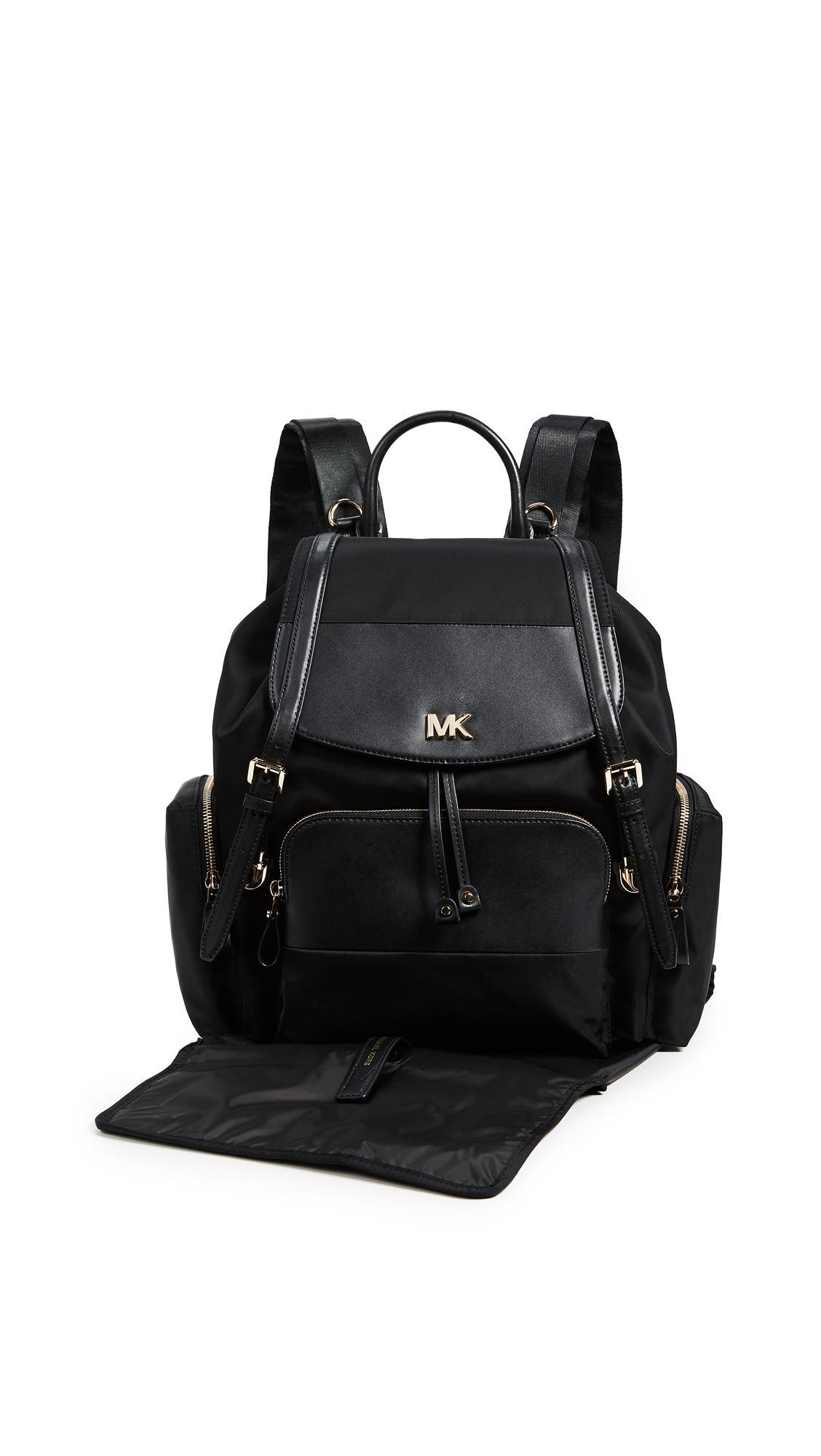 a6435159c660 ... czech michael michael kors mott diaper bag backpack in black lyst 9227e  2dd01
