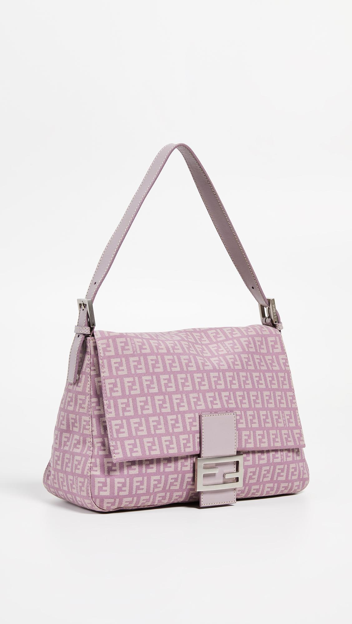Lyst - What Goes Around Comes Around Fendi Purple Zucchino Mama Bag ... 0a34a6a93057e
