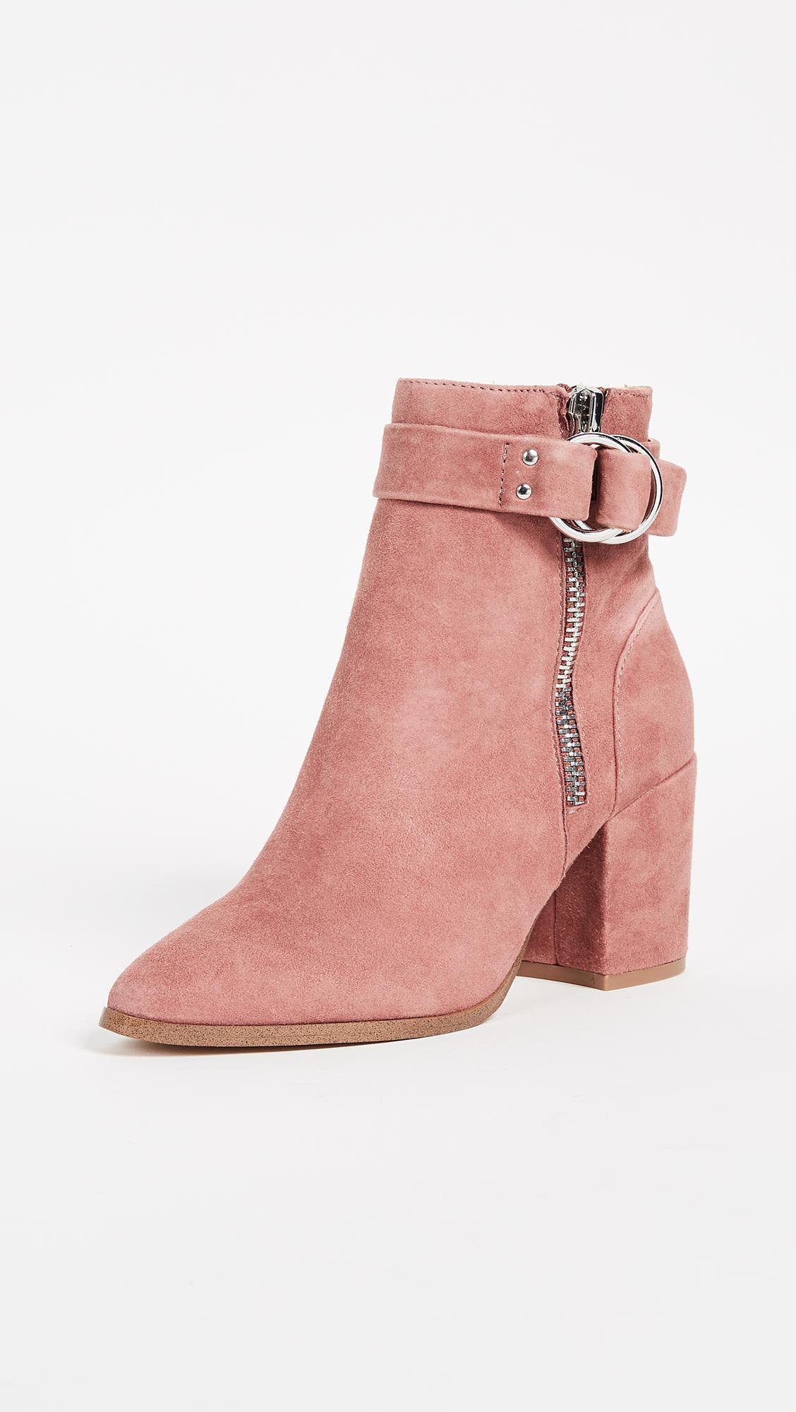 c32864925306 Steven steve madden block heel ankle boots in pink lyst jpg 1128x2000 Steve  madden chunky heel