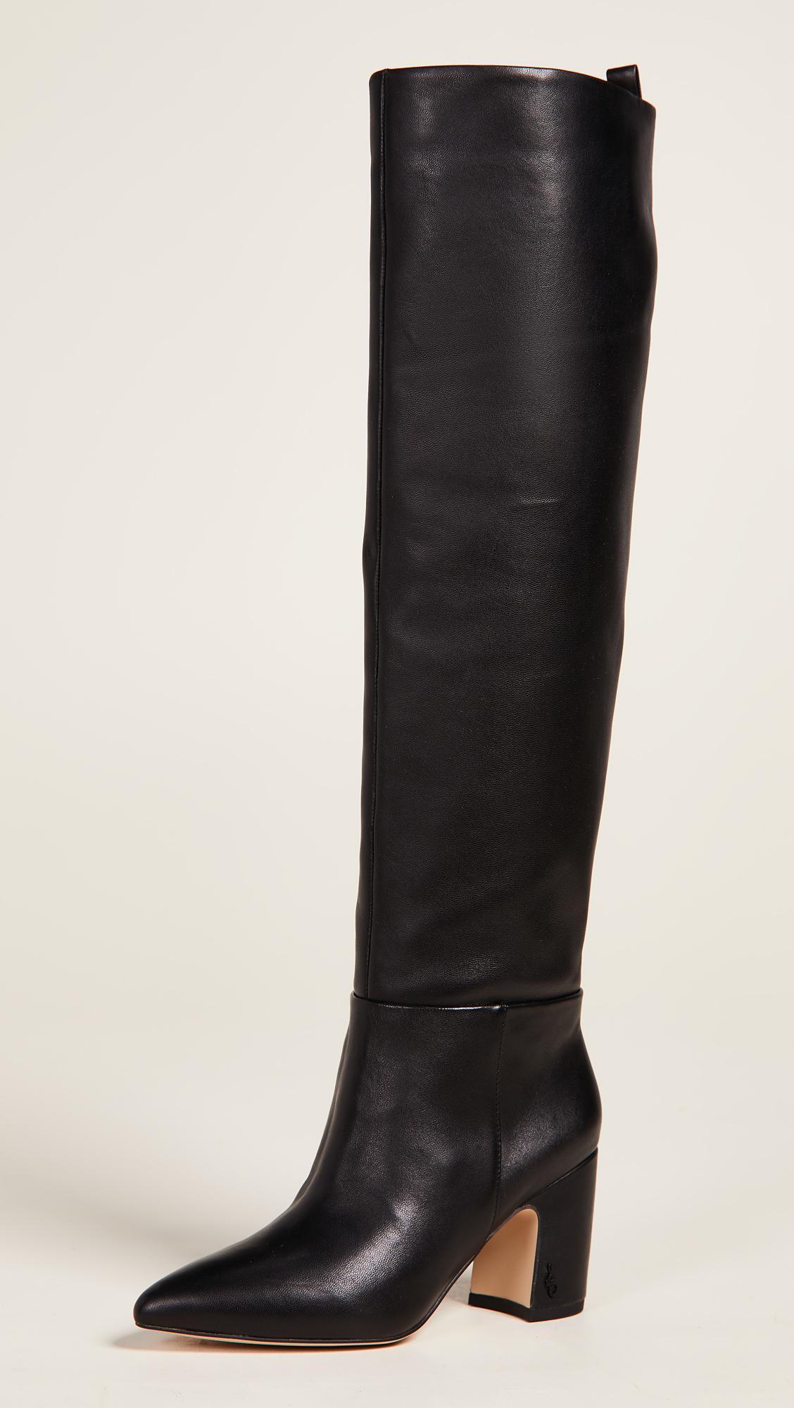 2274f7552 Lyst - Sam Edelman Hutton Tall Boots in Black