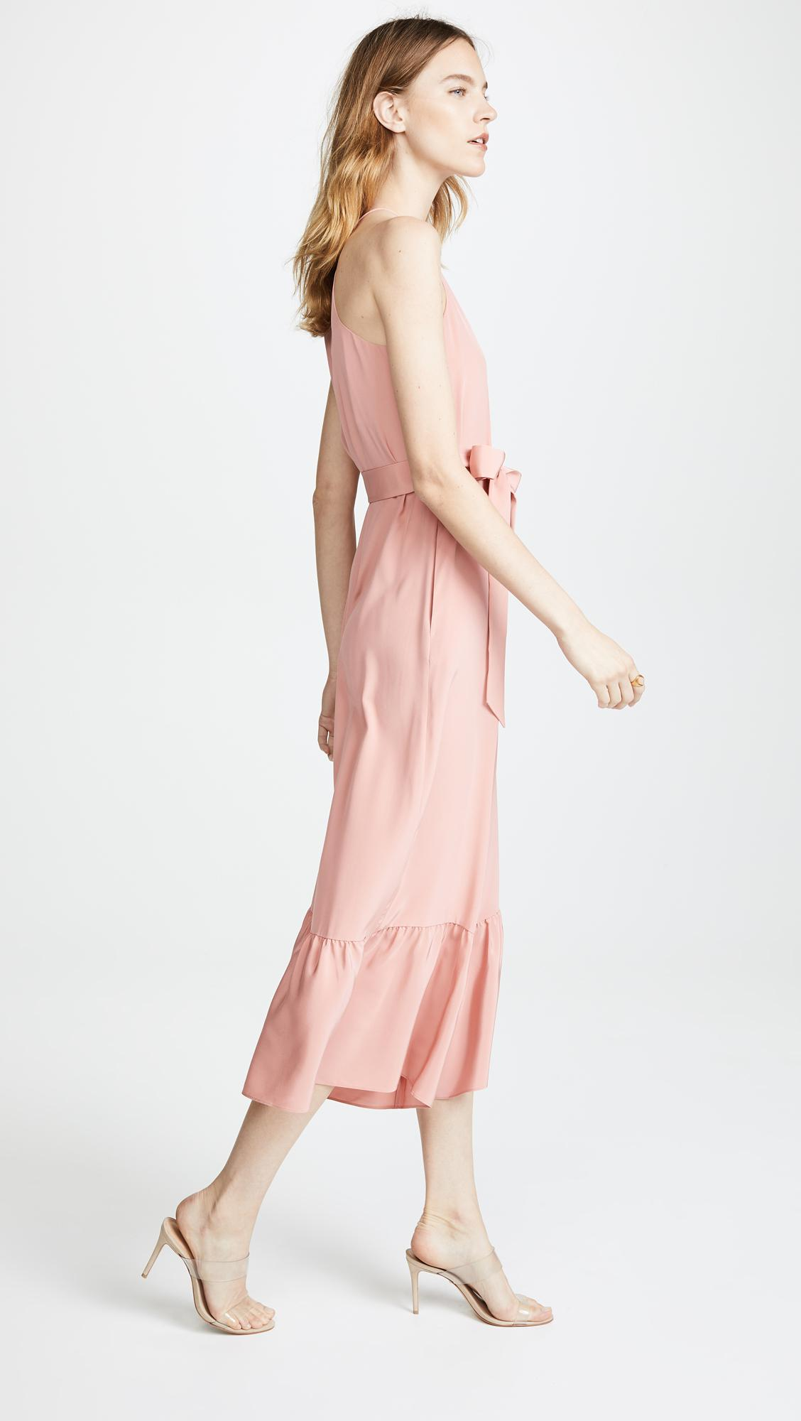 ef3083d422d Lyst - Tibi Ruffled Halter Jumpsuit in Pink