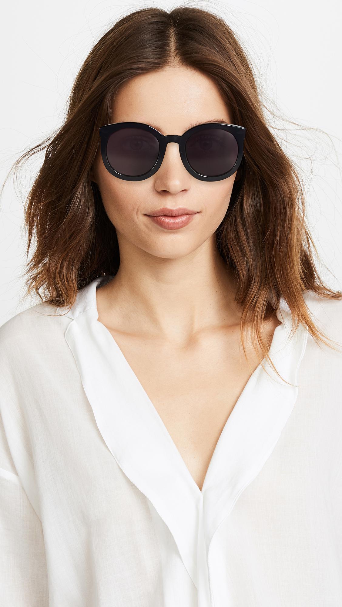 1bd55e6600d Karen Walker - Black Super Duper Strength Sunglasses - Lyst. View fullscreen