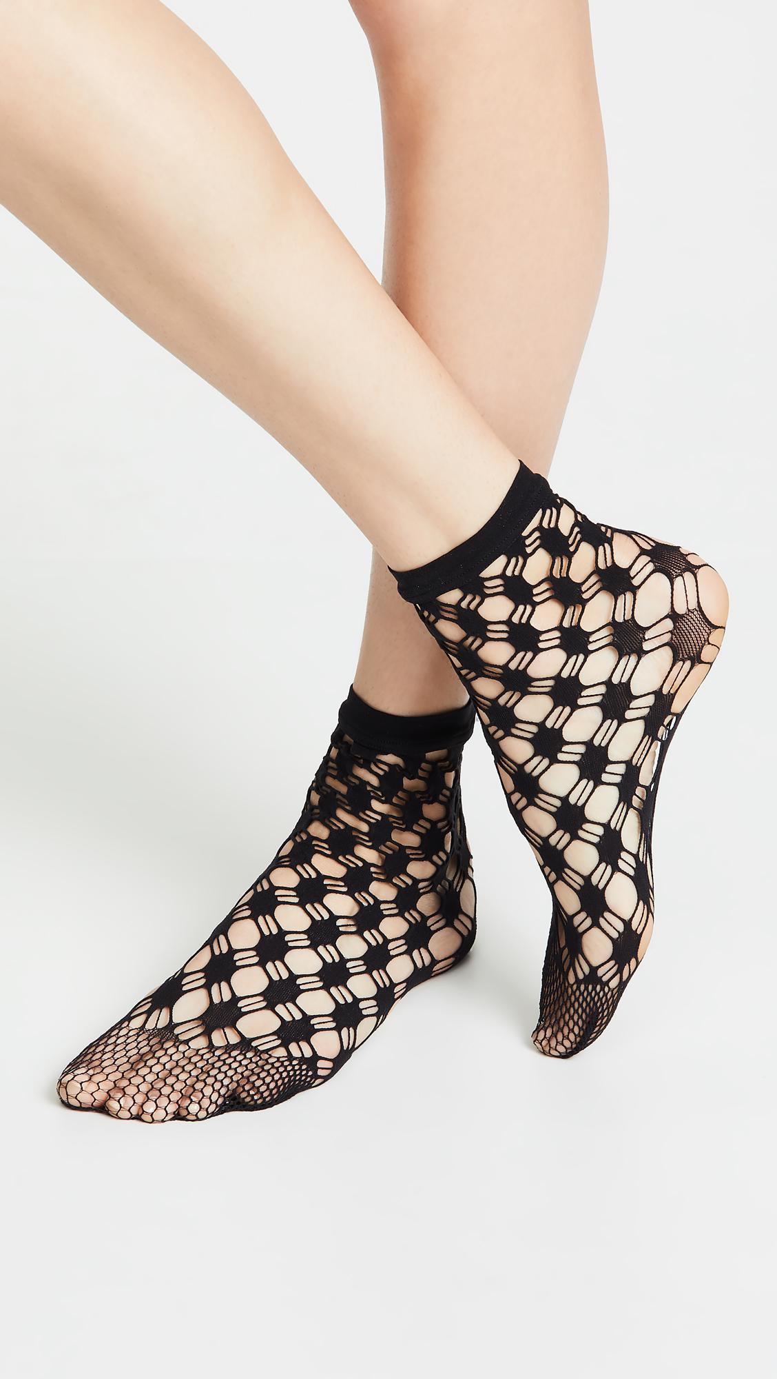 c6e207e6a0a Wolford - Black Athina Socks - Lyst. View fullscreen